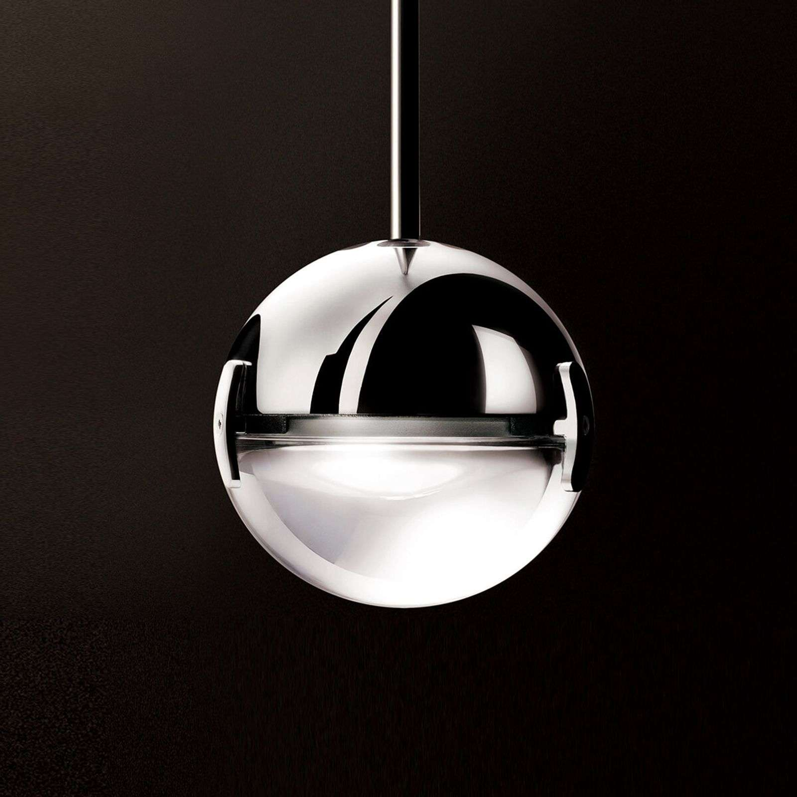 Suspension LED Convivio chrome brillant satiné