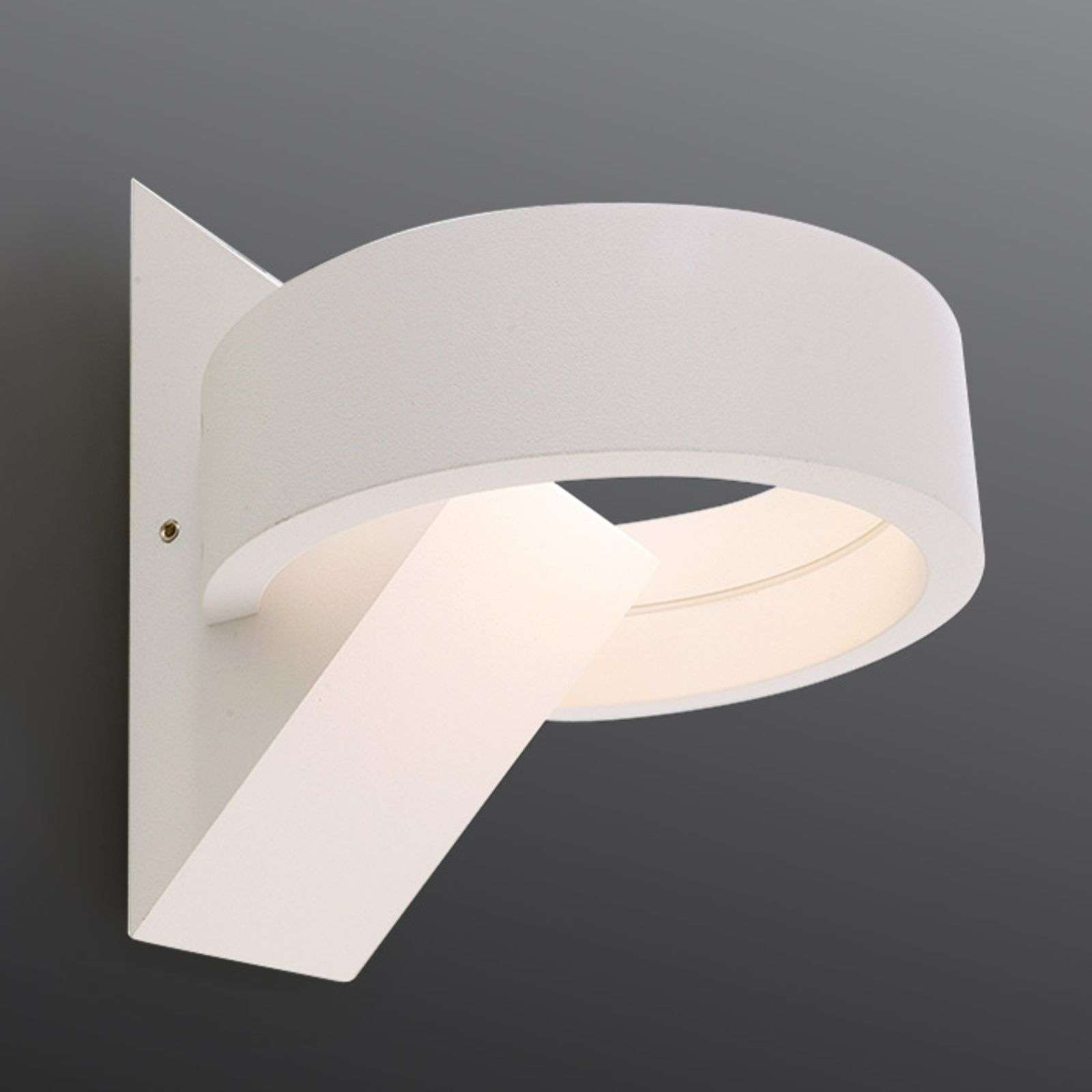 Applique murale LED Gracie en blanc