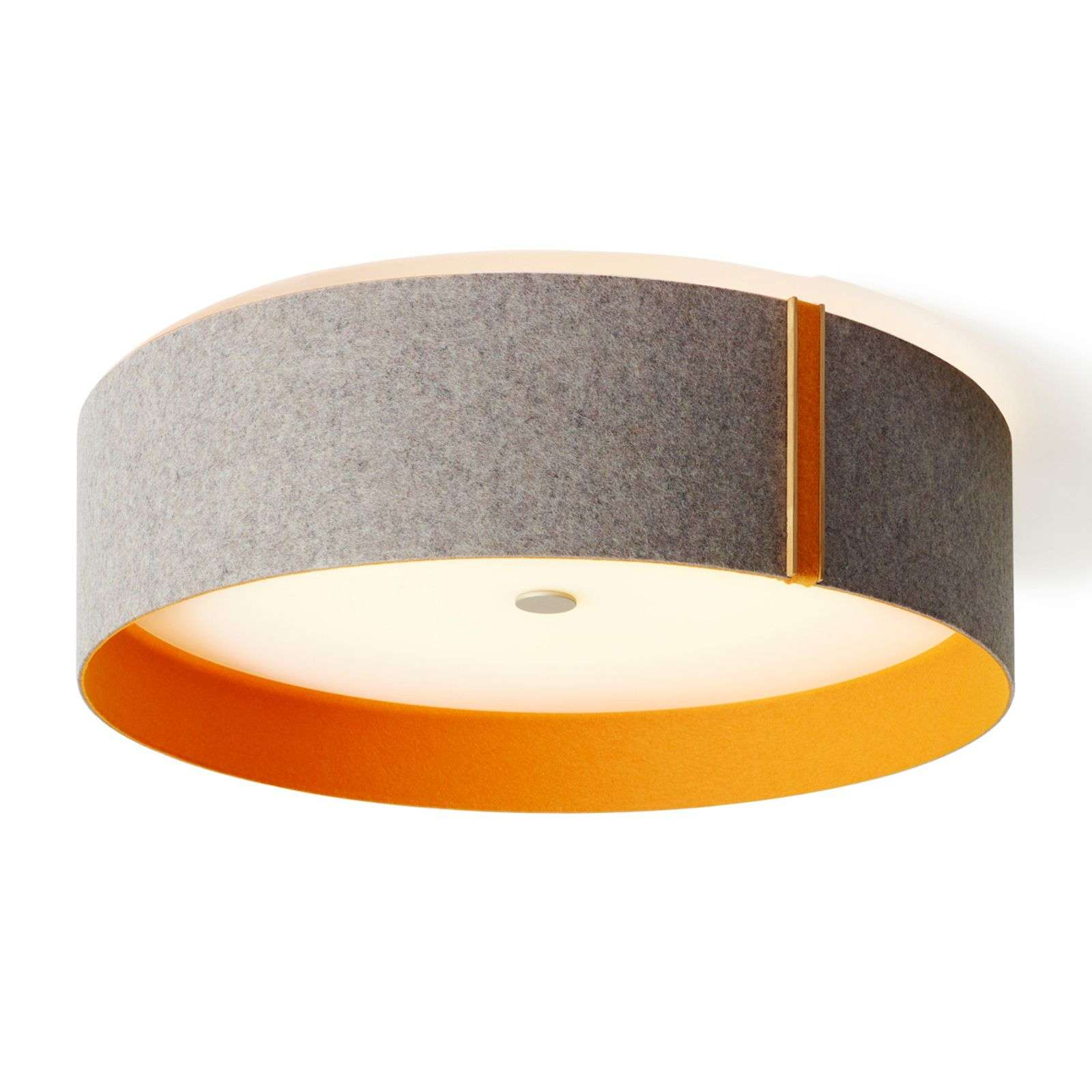Plafonnier LED en feutrine Lara felt gris/orange