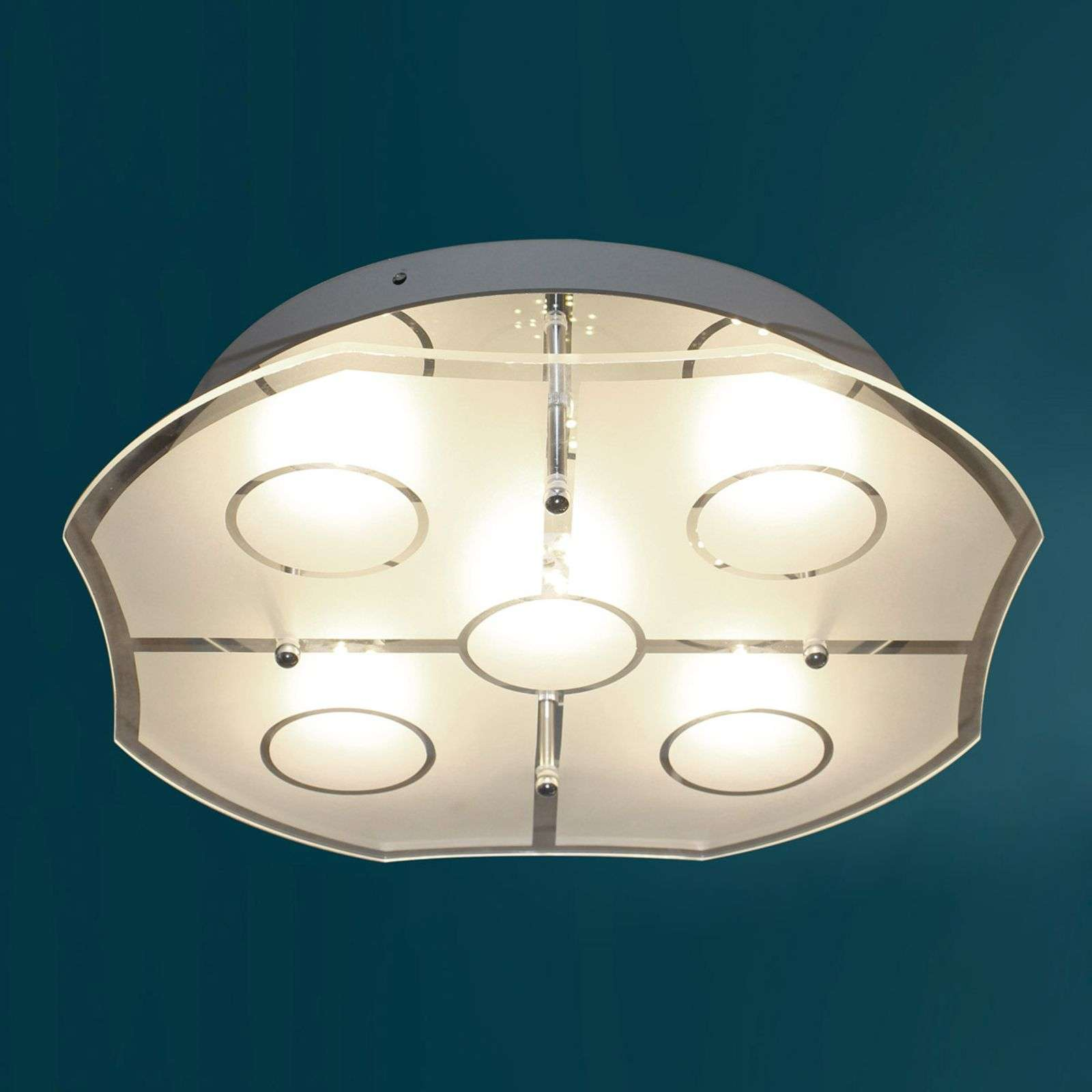 Plafonnier LED Varese de conception attrayante