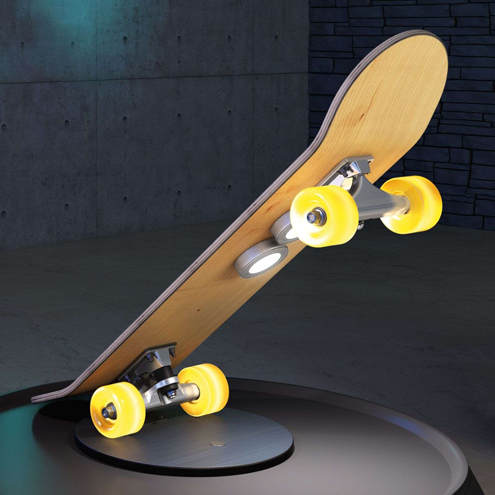 Lampe à poser en skateboard Light Cruiser avec LED