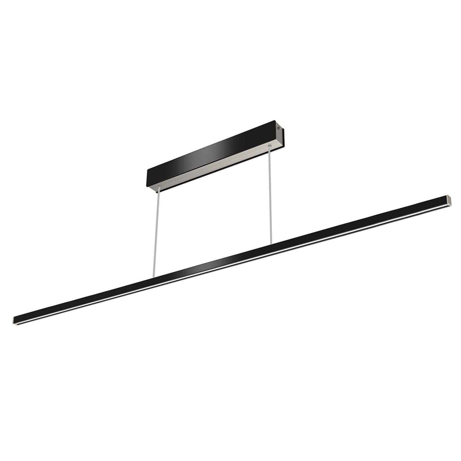 Suspension LED Orix télécommande noir 150 cm