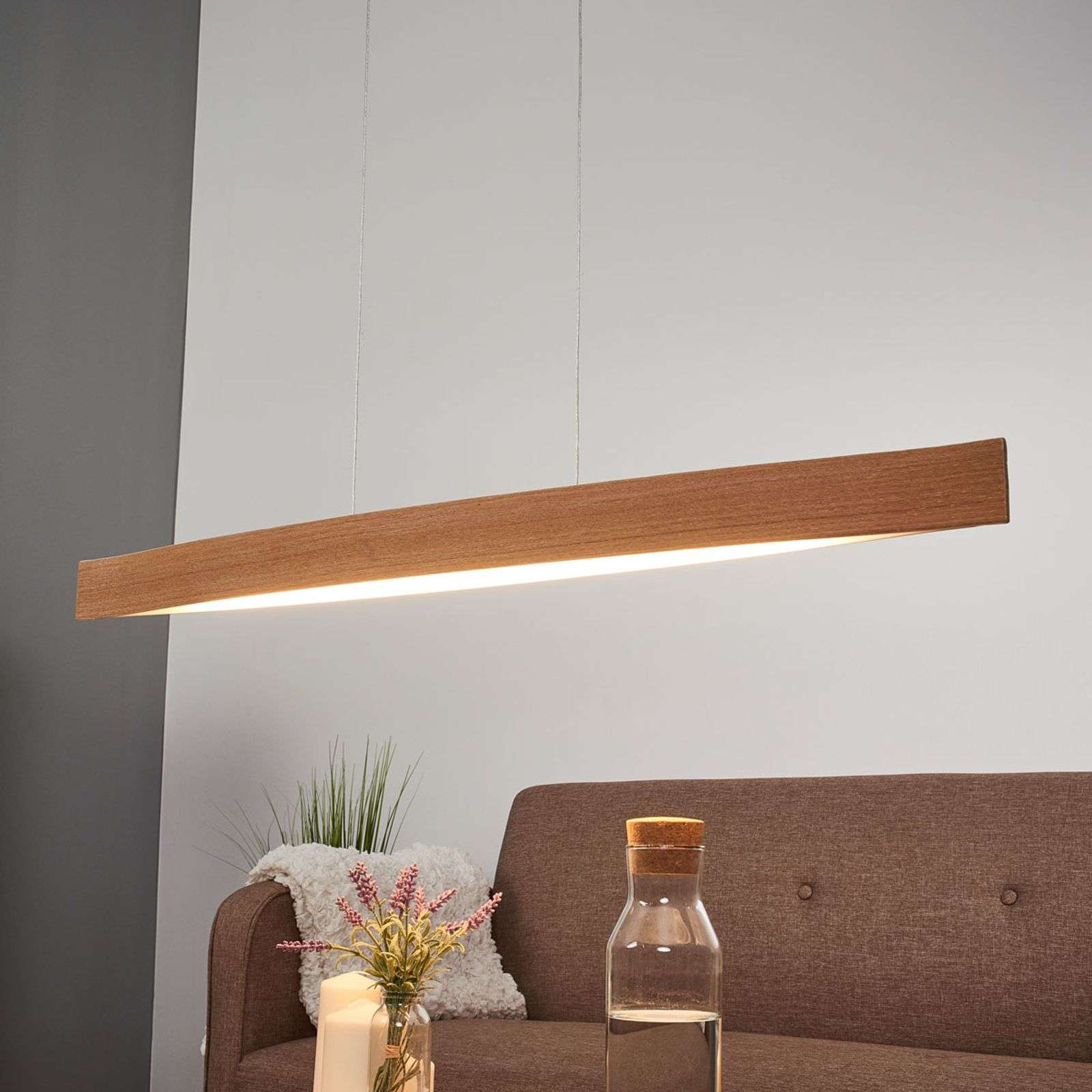 Chêne naturel - la suspension LED Fornes