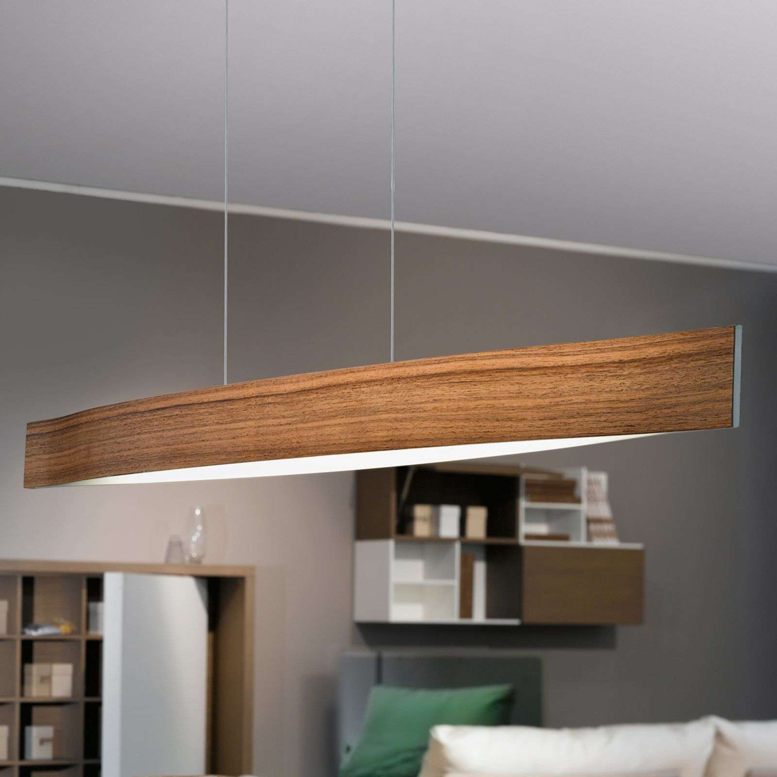 Teinte de bois de noyer - la suspension LED Fornes