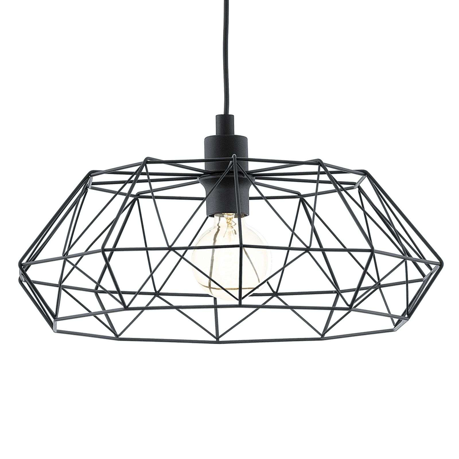 Suspension Carlton 2 noire Vintage
