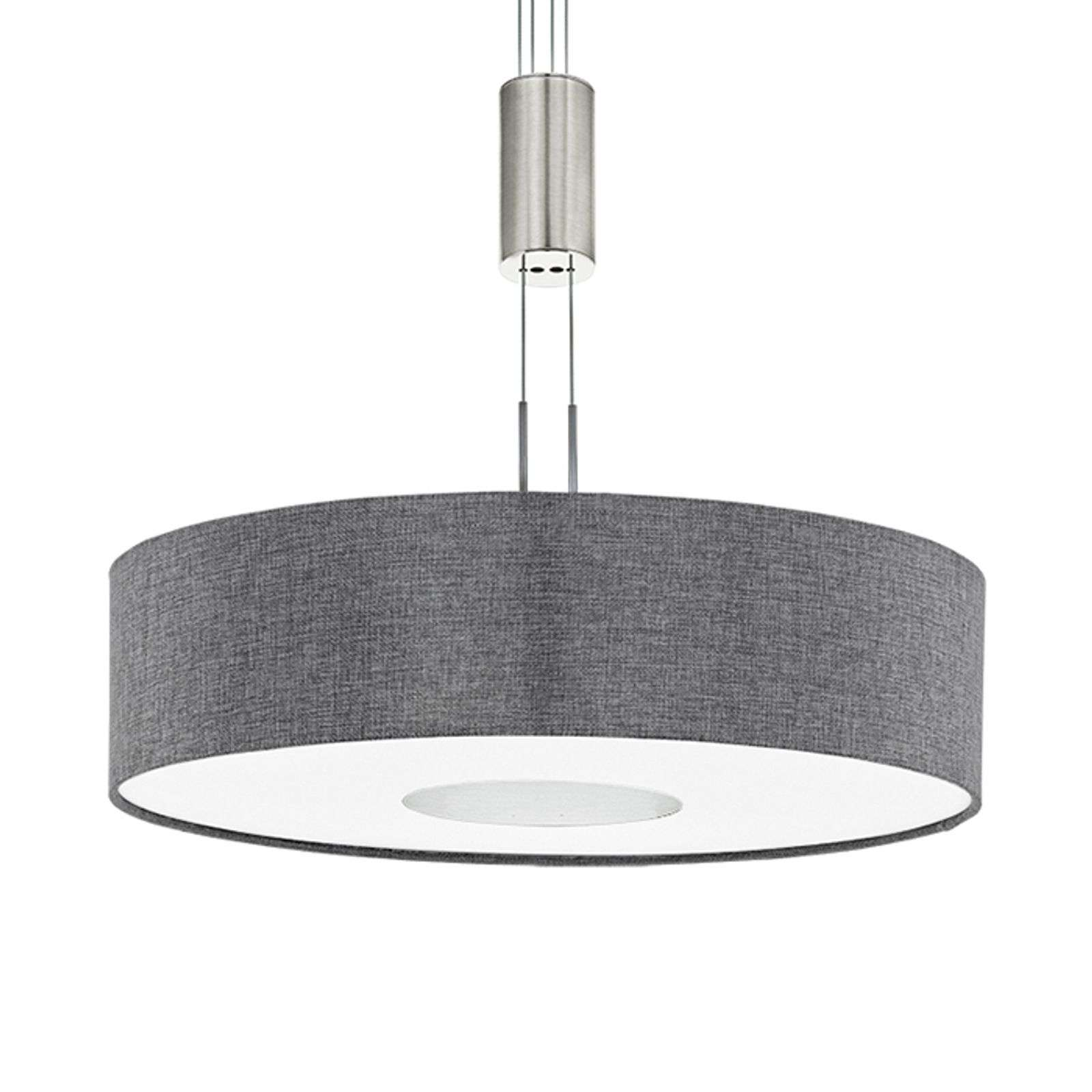 Suspension LED Romano textile, hauteur réglable