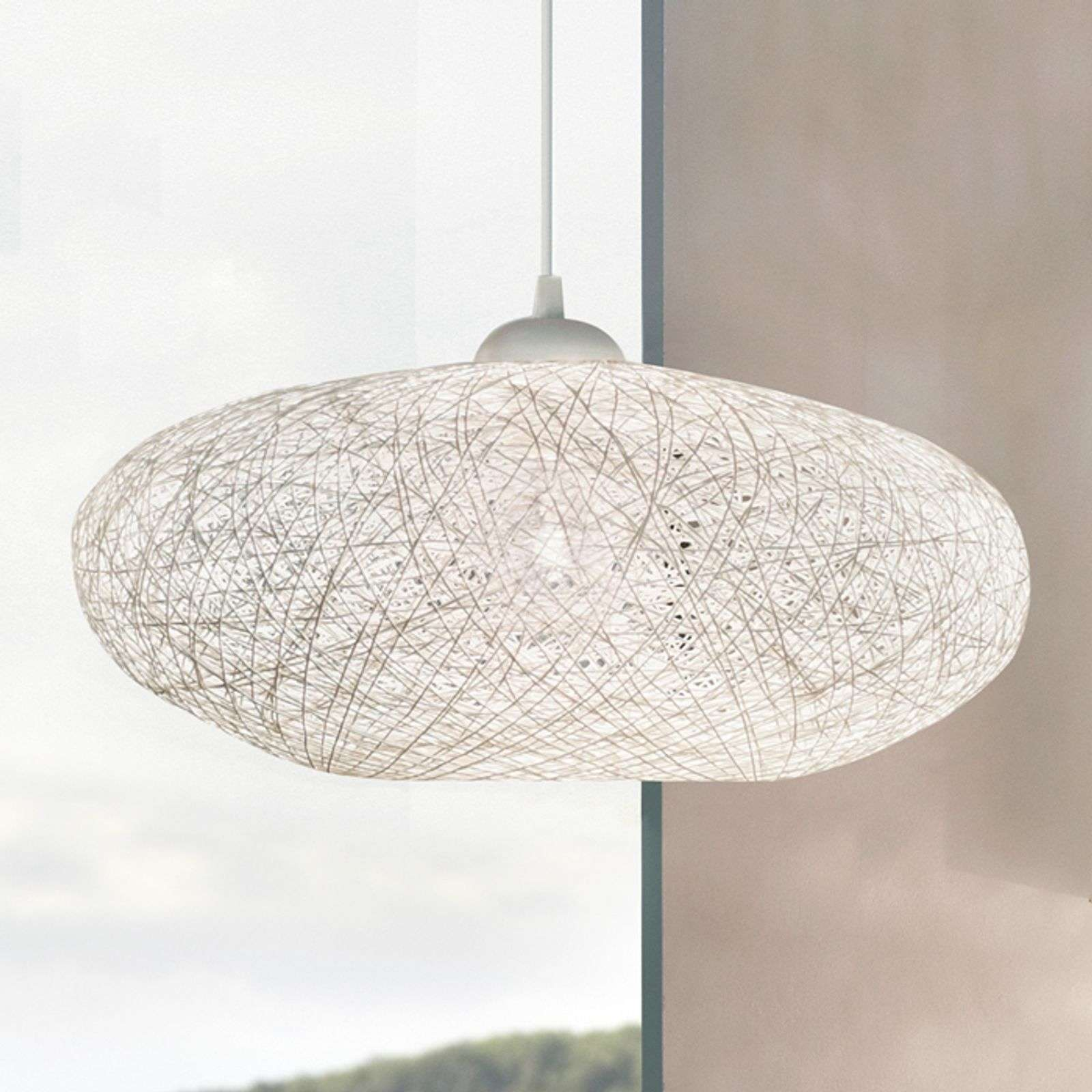 Suspension textile Campilo, blanche