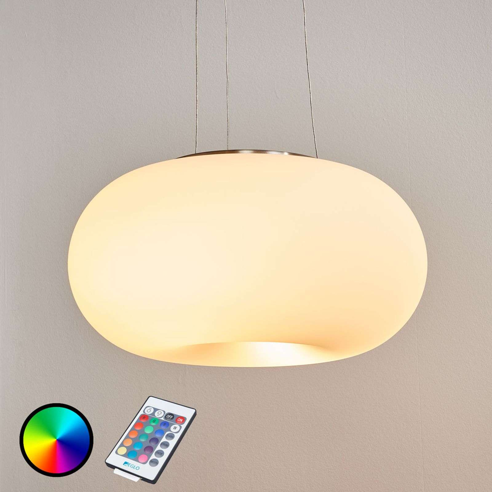 Suspension LED RGBW Optica-C avec télécommande