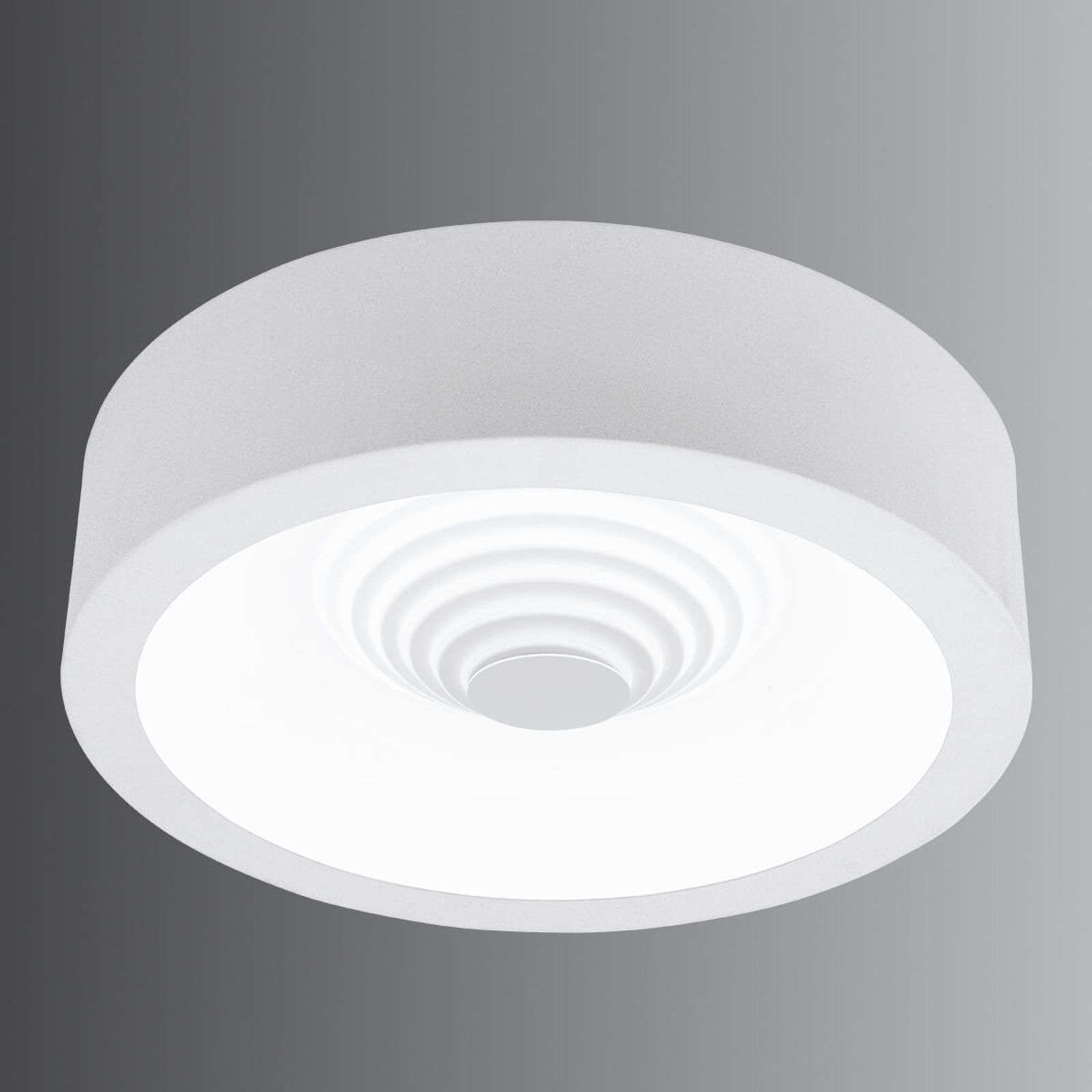 Plafonnier LED rond Leganes, dimmable