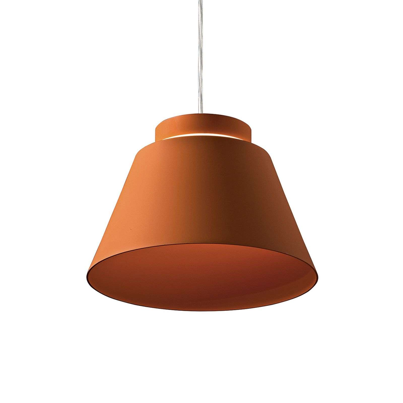 Suspension LED Lia, rouge brique