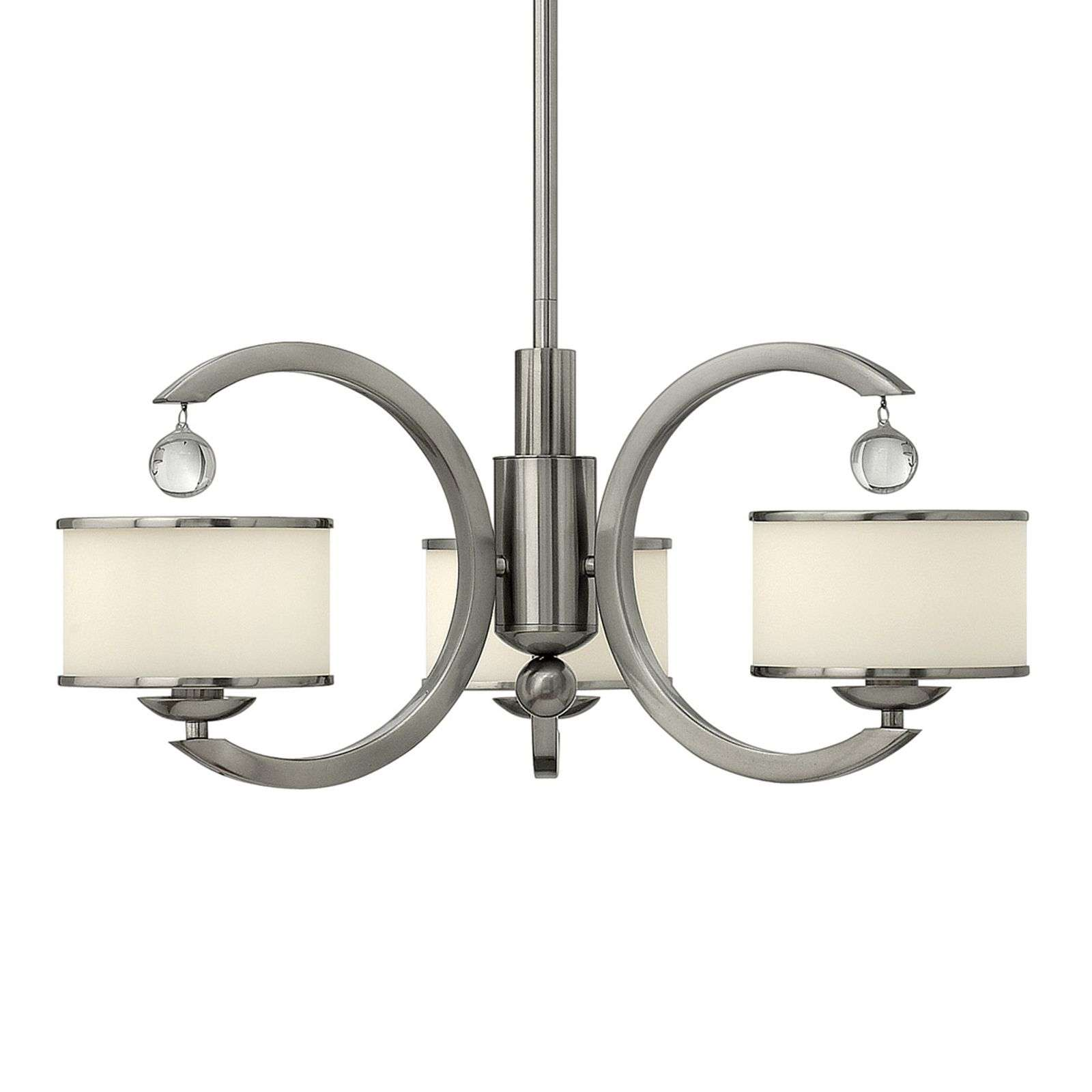 Suspension moderne à 3 lampes MONACO nickel