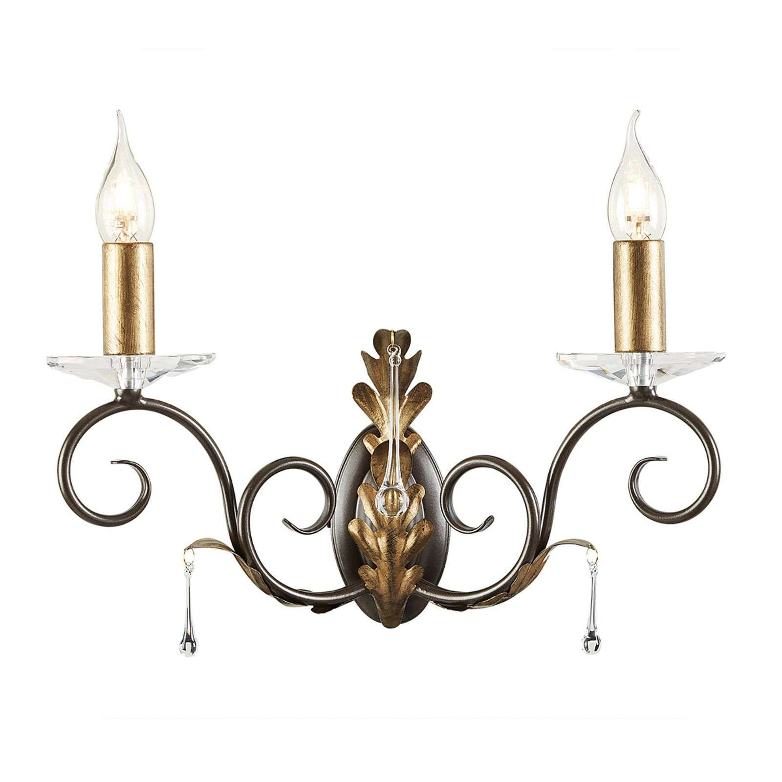 Belle applique Amarilli bronze à 2 lampes