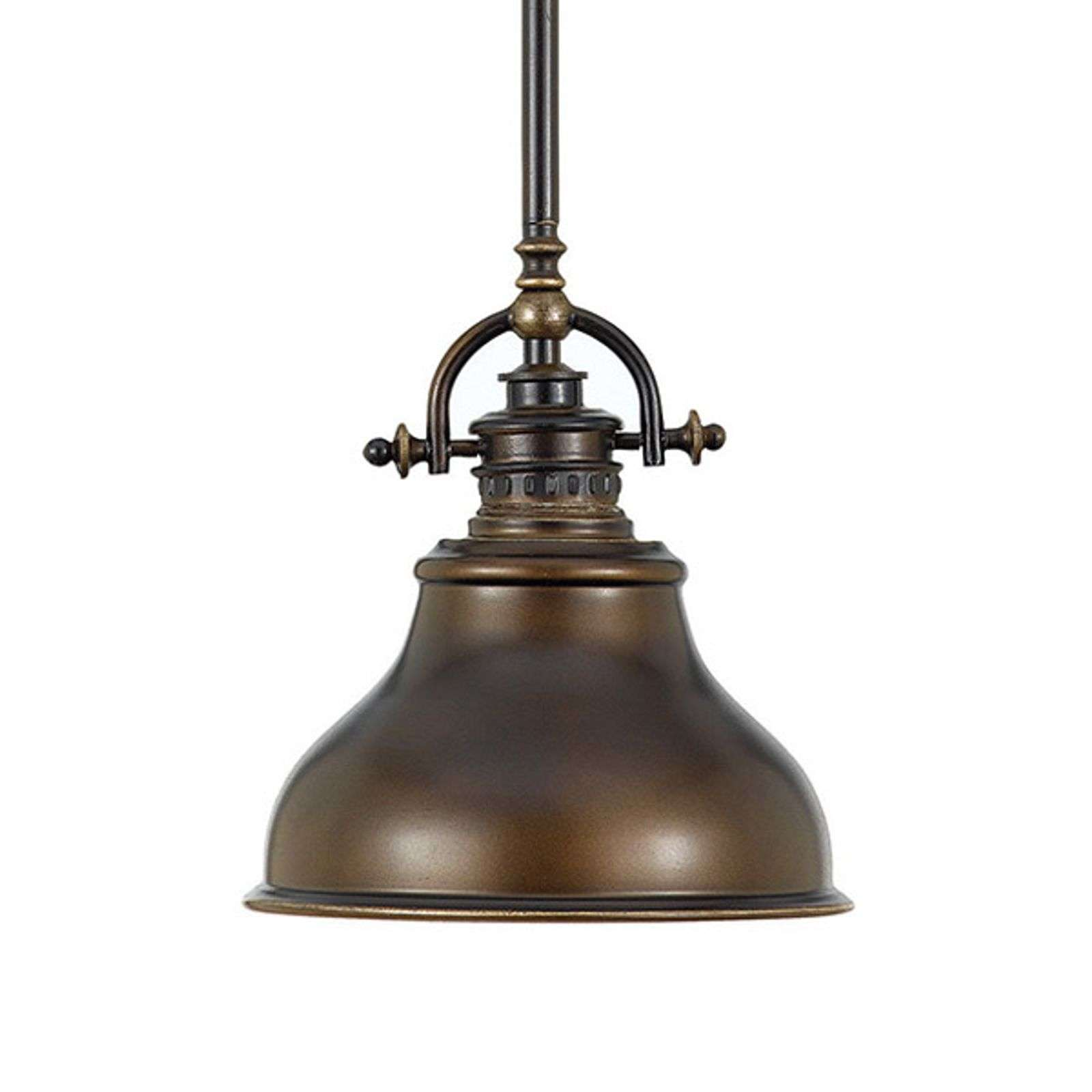Suspension Emery style industriel bronze Ø 20,3 cm