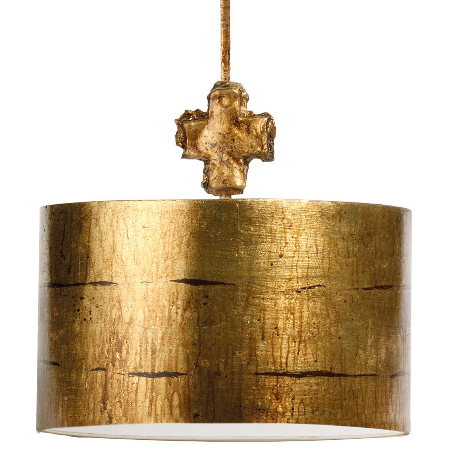 Fragment Gold - suspension ronde au look antique