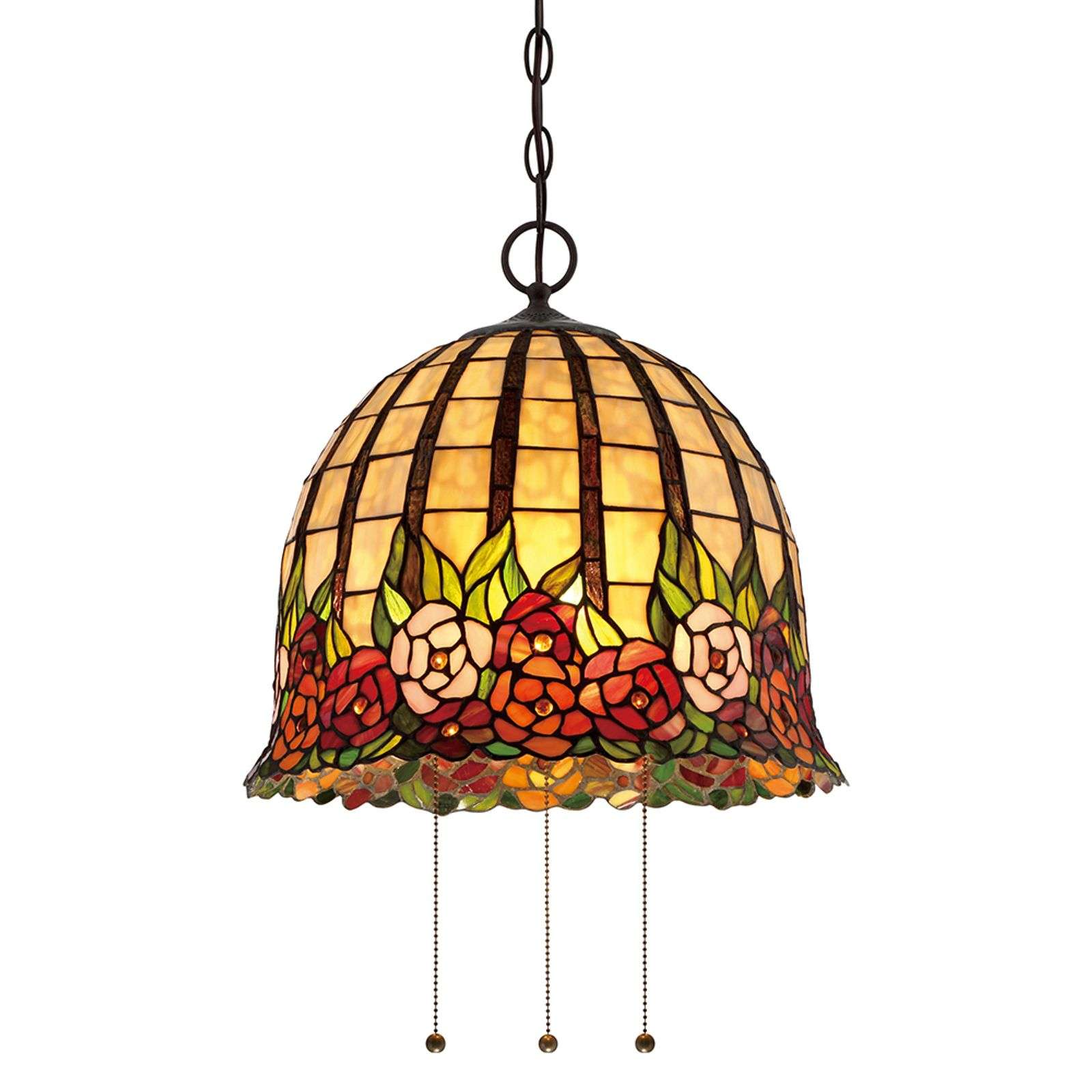 Suspension Tiffany Rosecliff au design floral