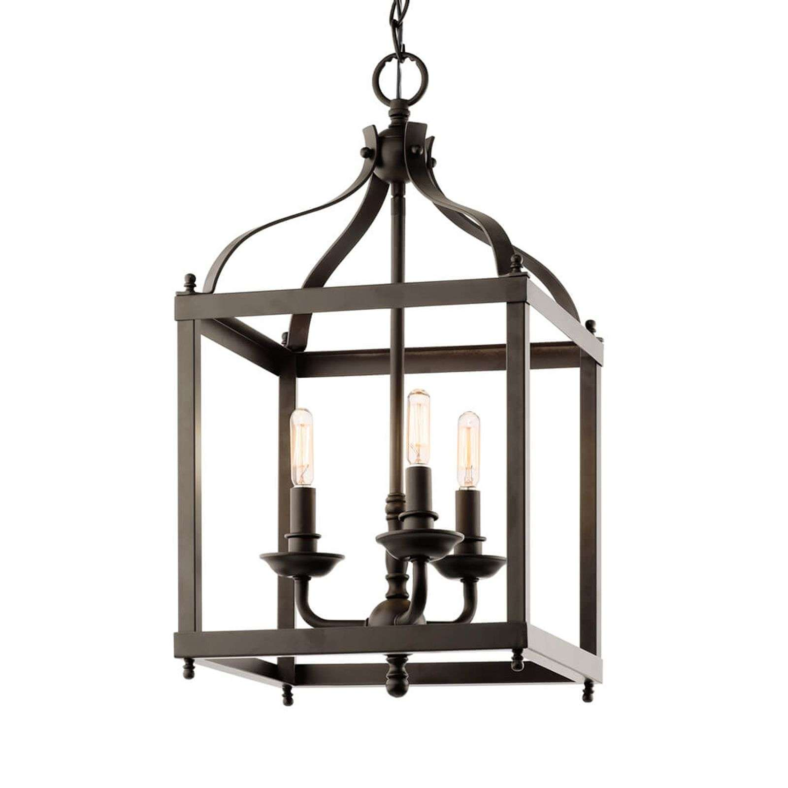 Suspension Larkin couleur bronze à 3 lampes