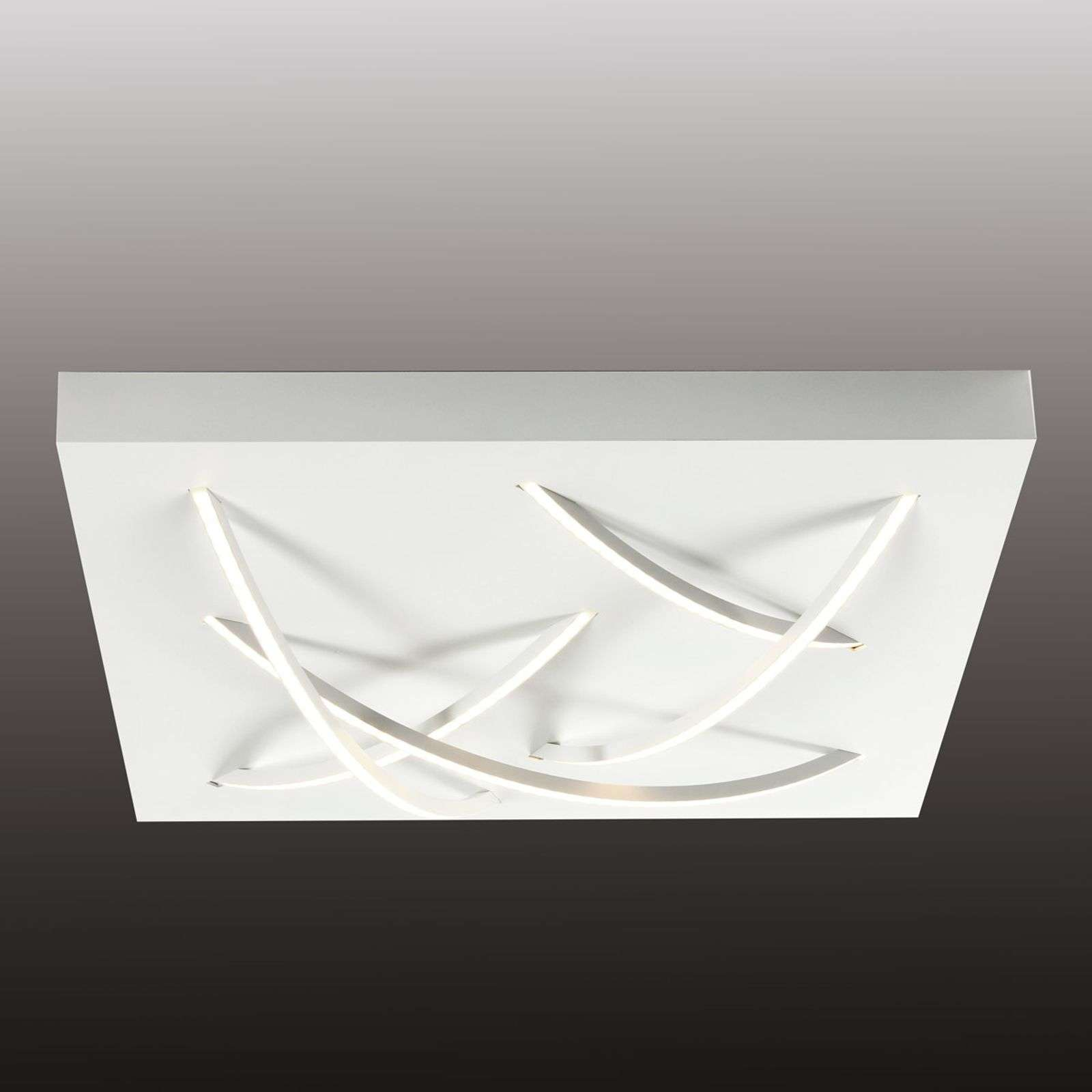 Plafonnier LED Curved carré blanc