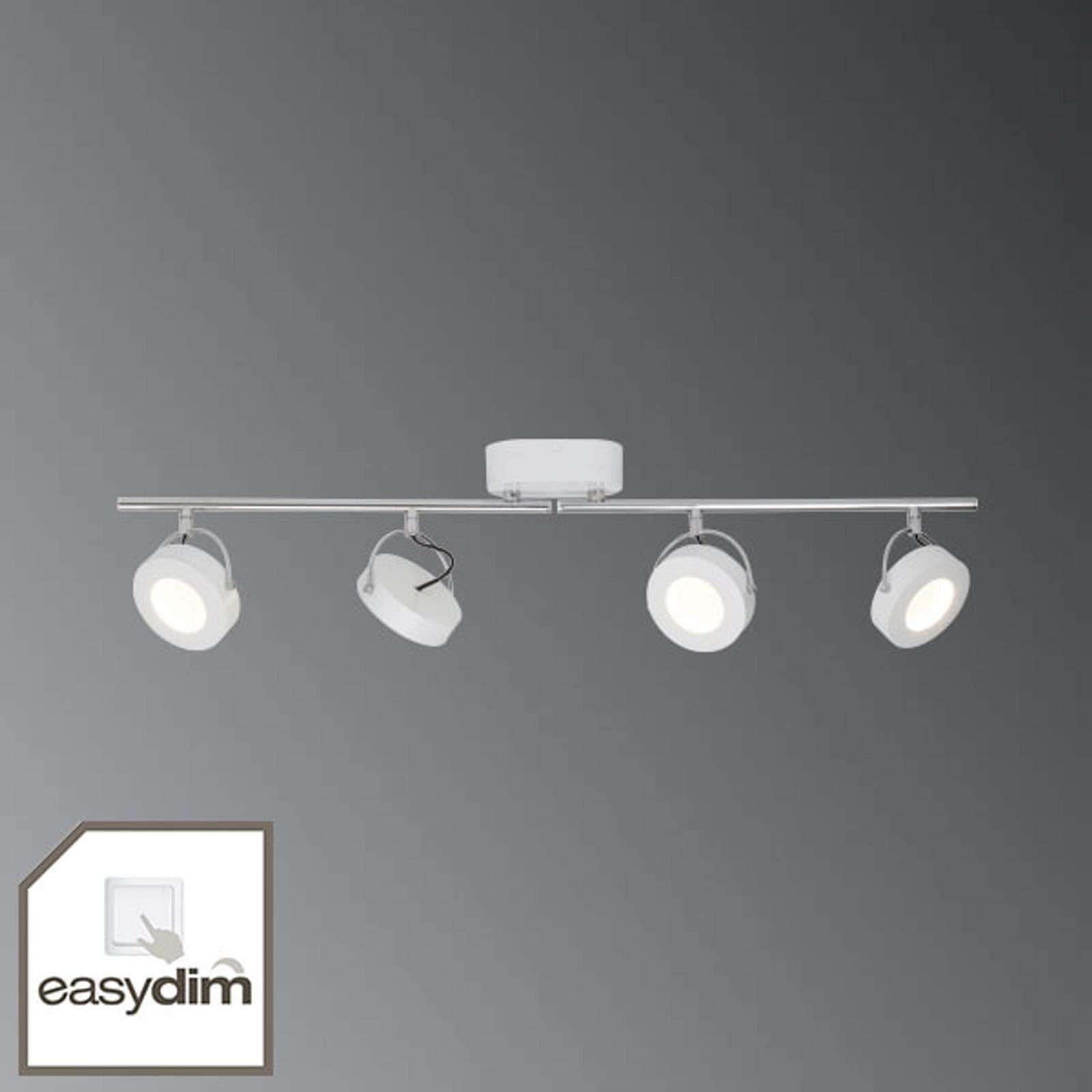 Plafonnier LED Allora blanc 4 lampes - EasyDim