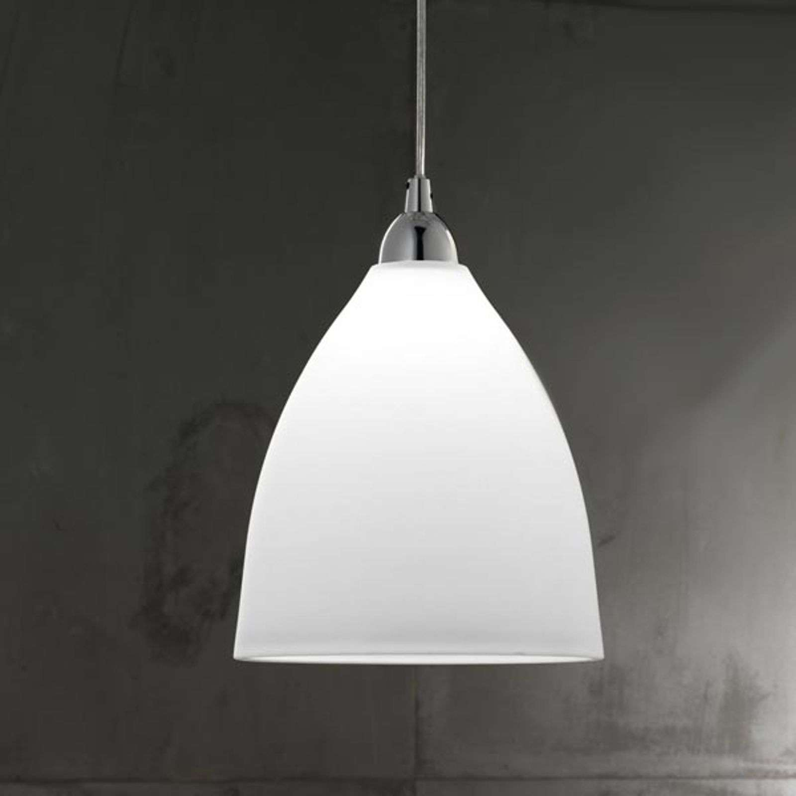Suspension en verre PROVENZA 20 cm blanc