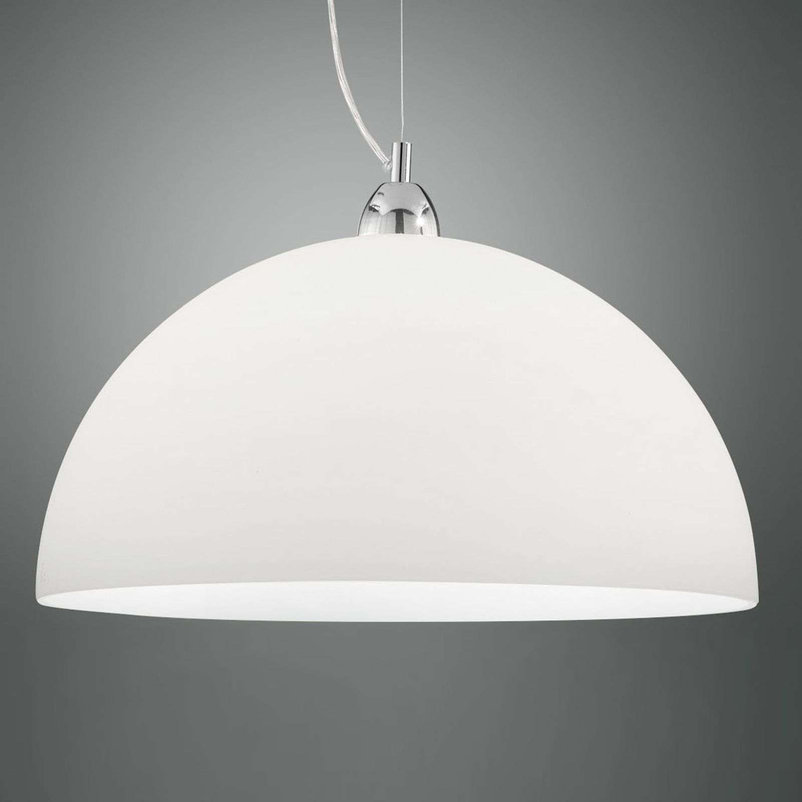 Suspension Nice en verre, blanc, 46 cm