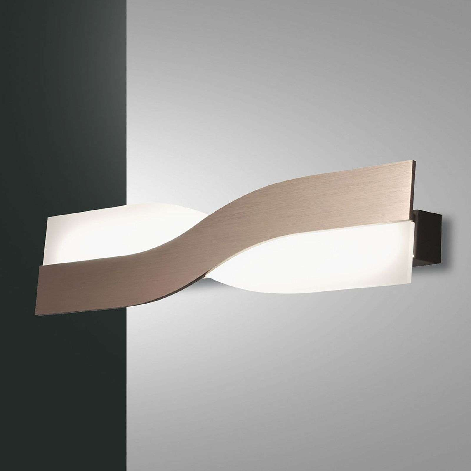 Belle applique murale LED Riace 50 cm bronze