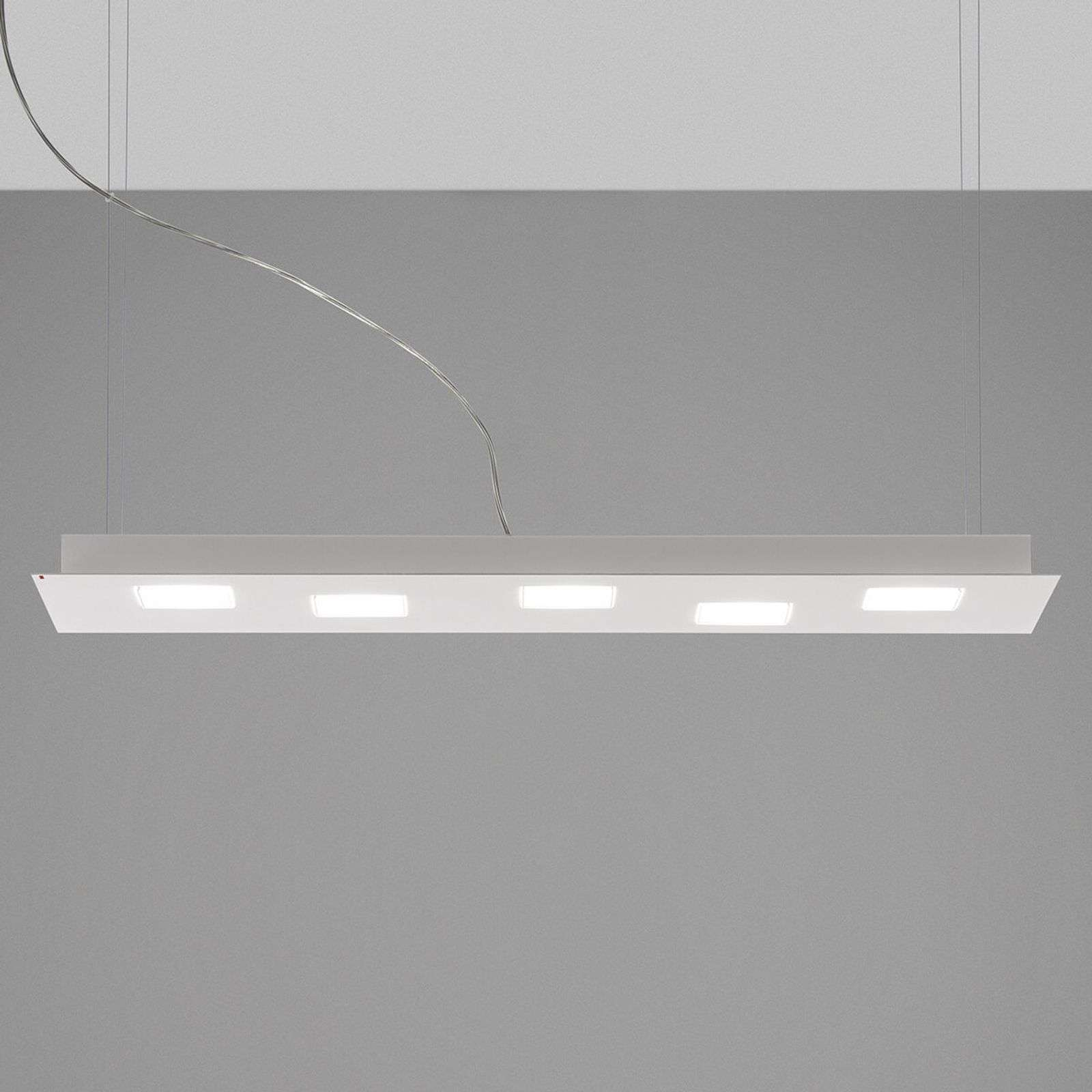 Suspension LED long Quarter en blanc