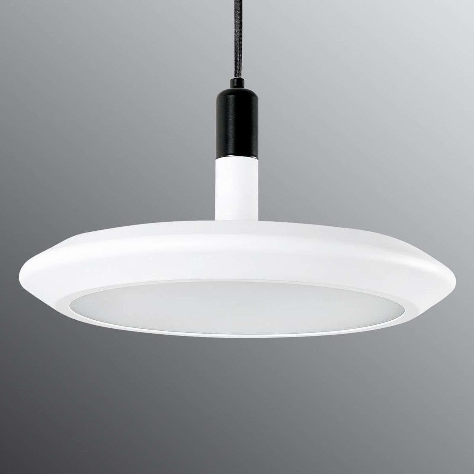 Suspension LED ronde Planet en blanc