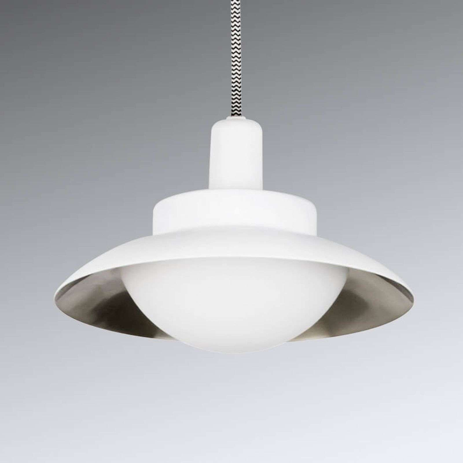 Suspension LED Side, blanc et nickel mat