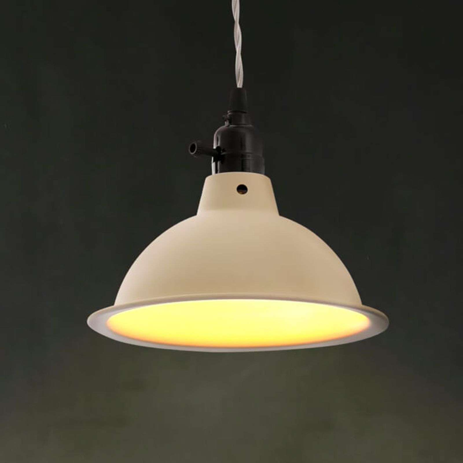Suspension industrielle Pepper, beige