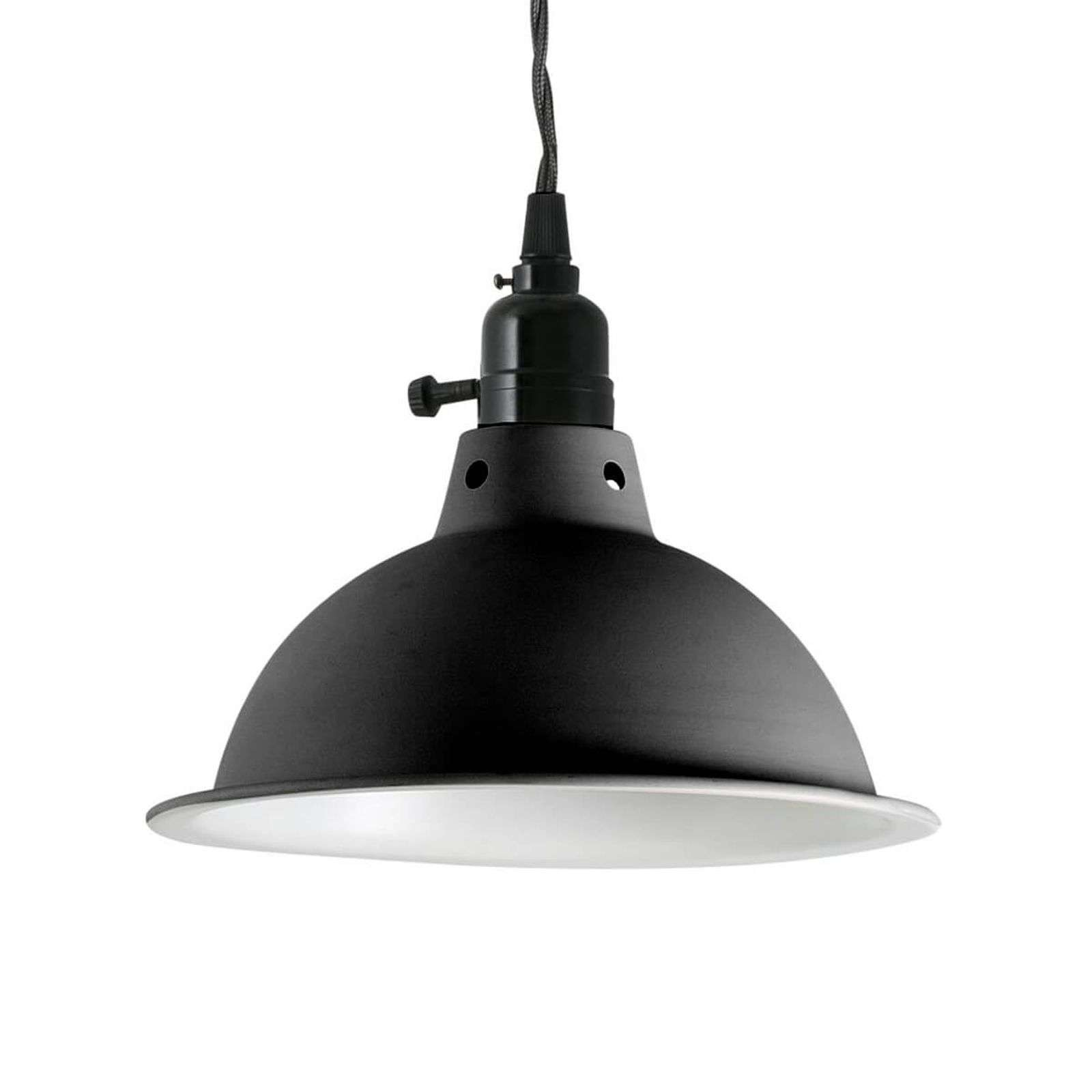 Suspension Pepper, style industriel, noir