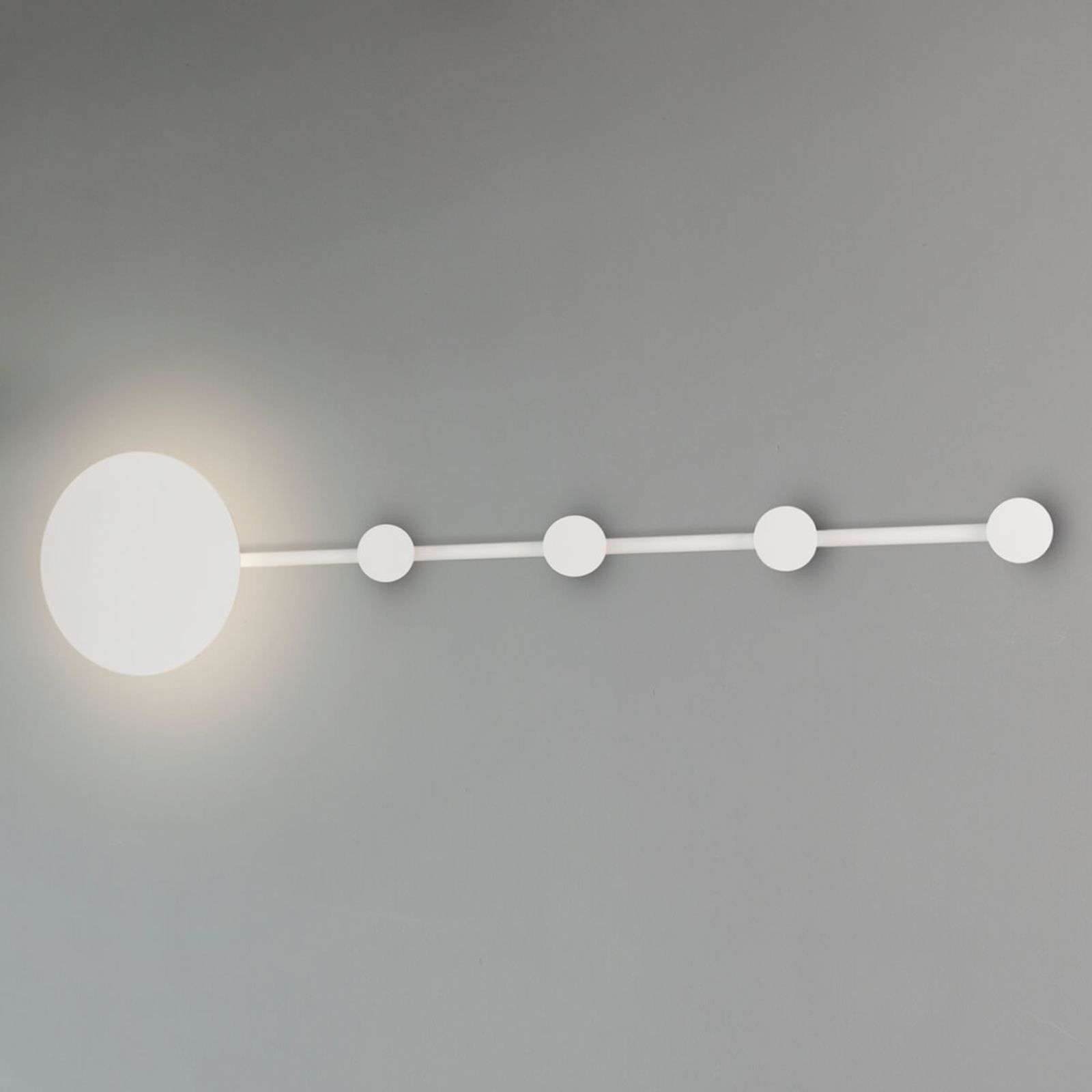 Applique murale LED Han porte-manteau, blanc