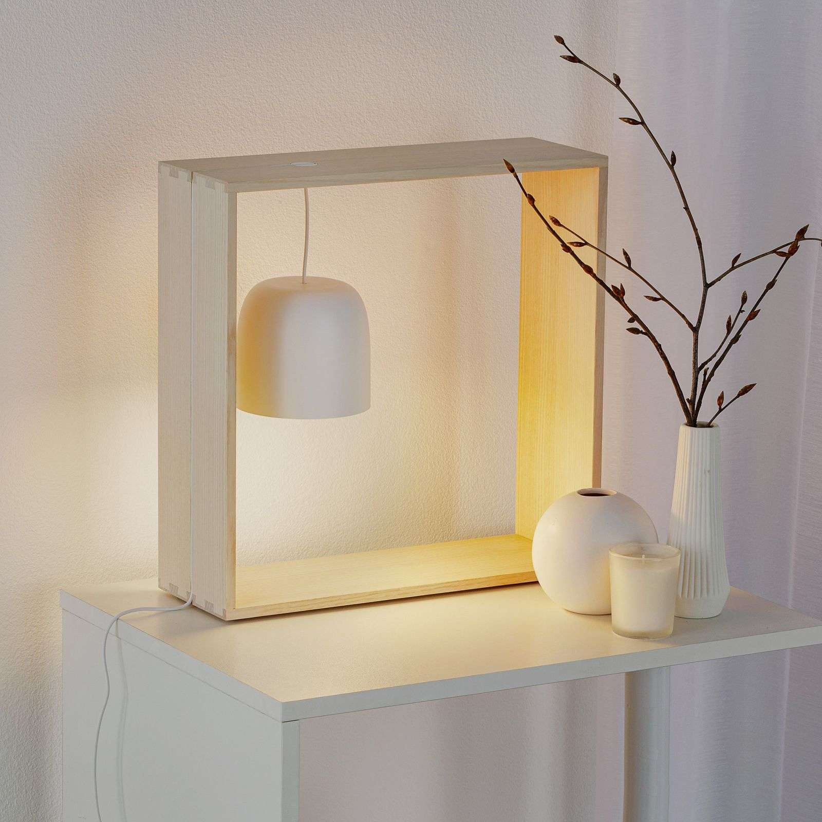 FLOS Gaku Wire lampe à poser LED, blanche