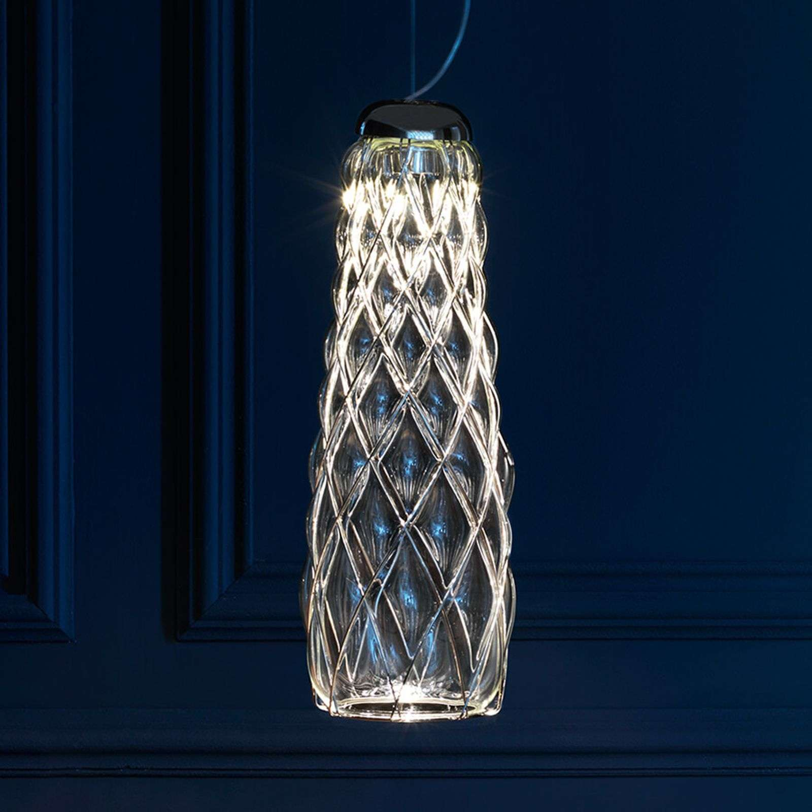 Suspension LED Pinecone, transparente