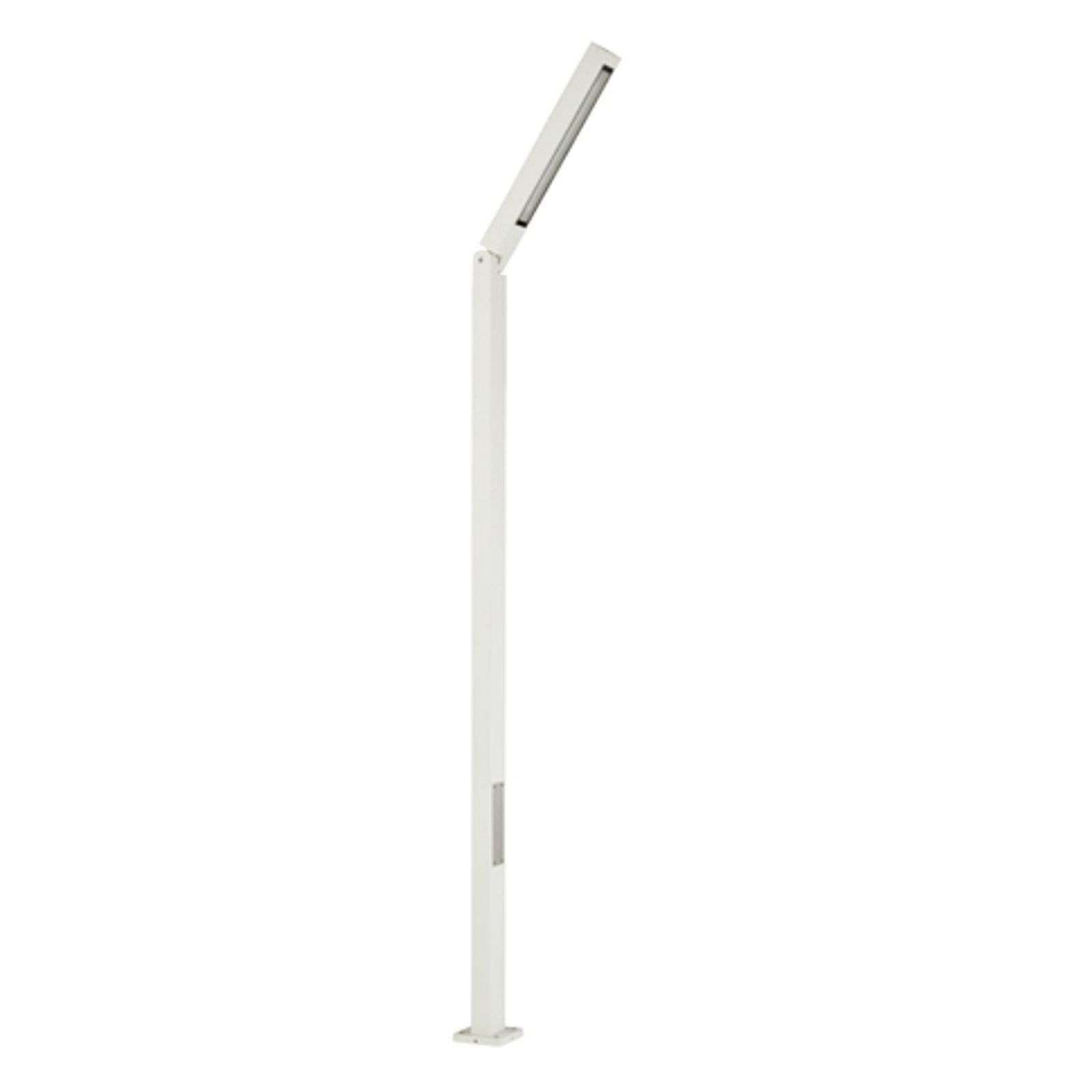 Lampadaire Power-LED Tiogo inclinable, blanc