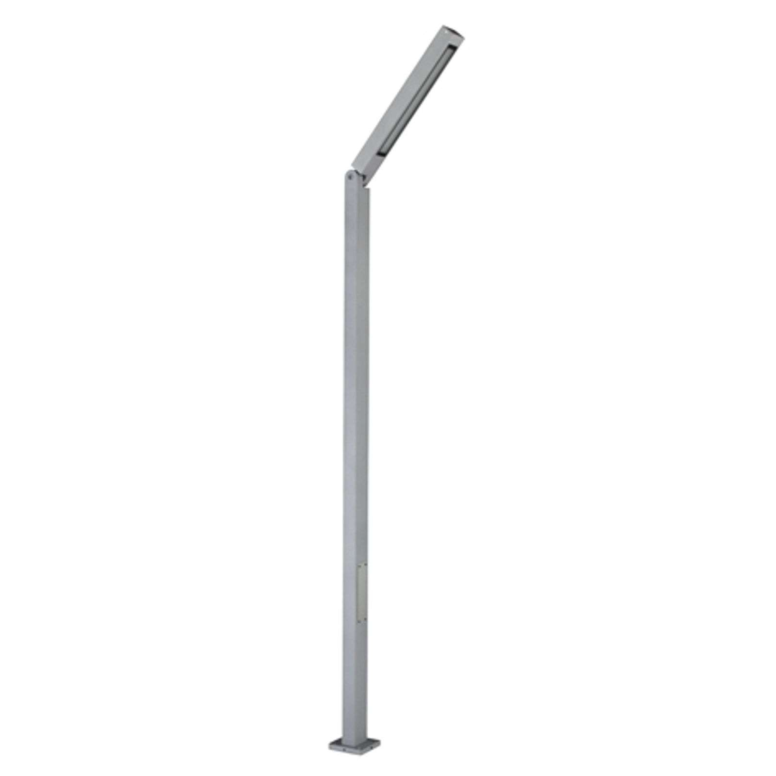 Lampadaire LED power Tiogo inclinable, argent