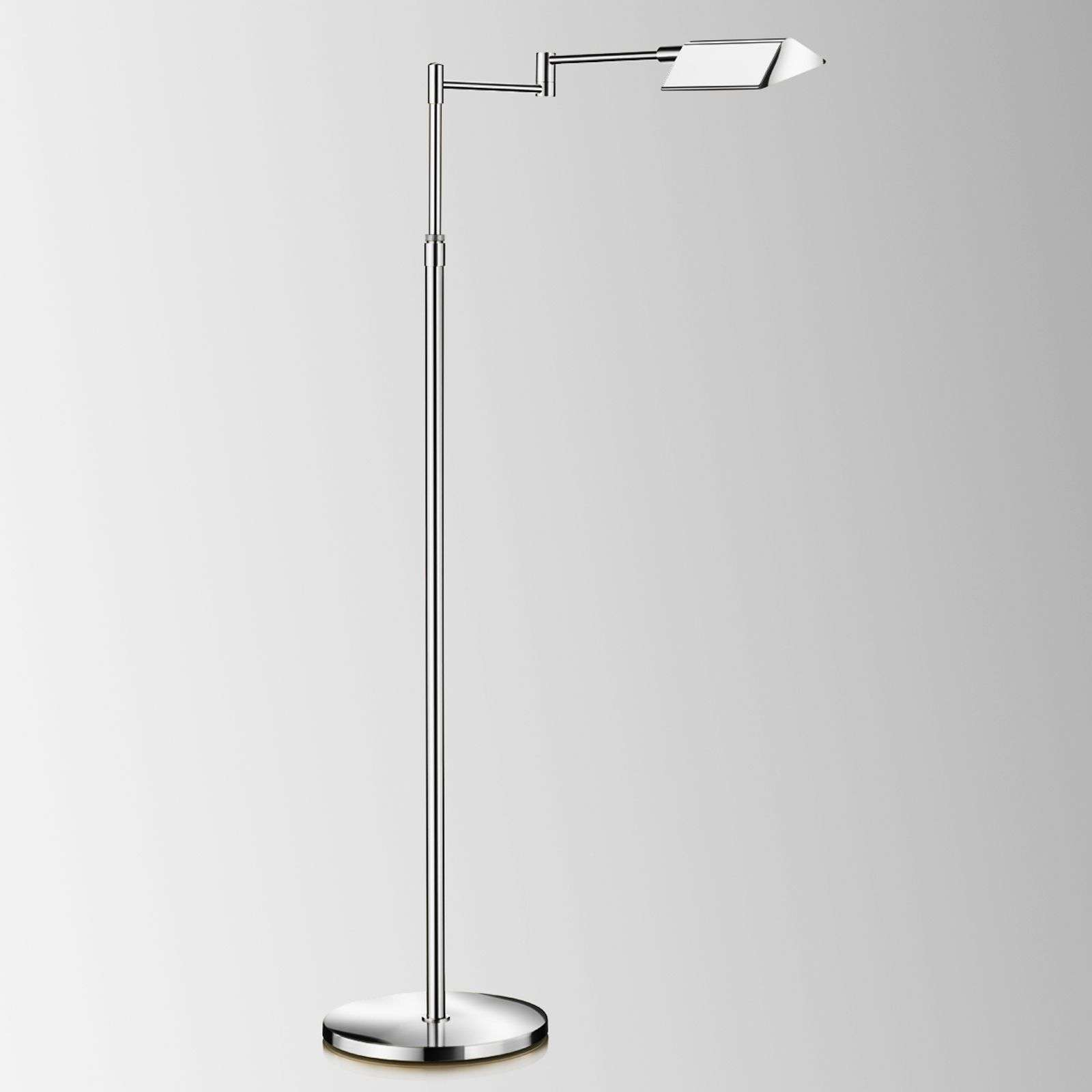 Lampadaire LED Dream chromé, variateur d'intensité