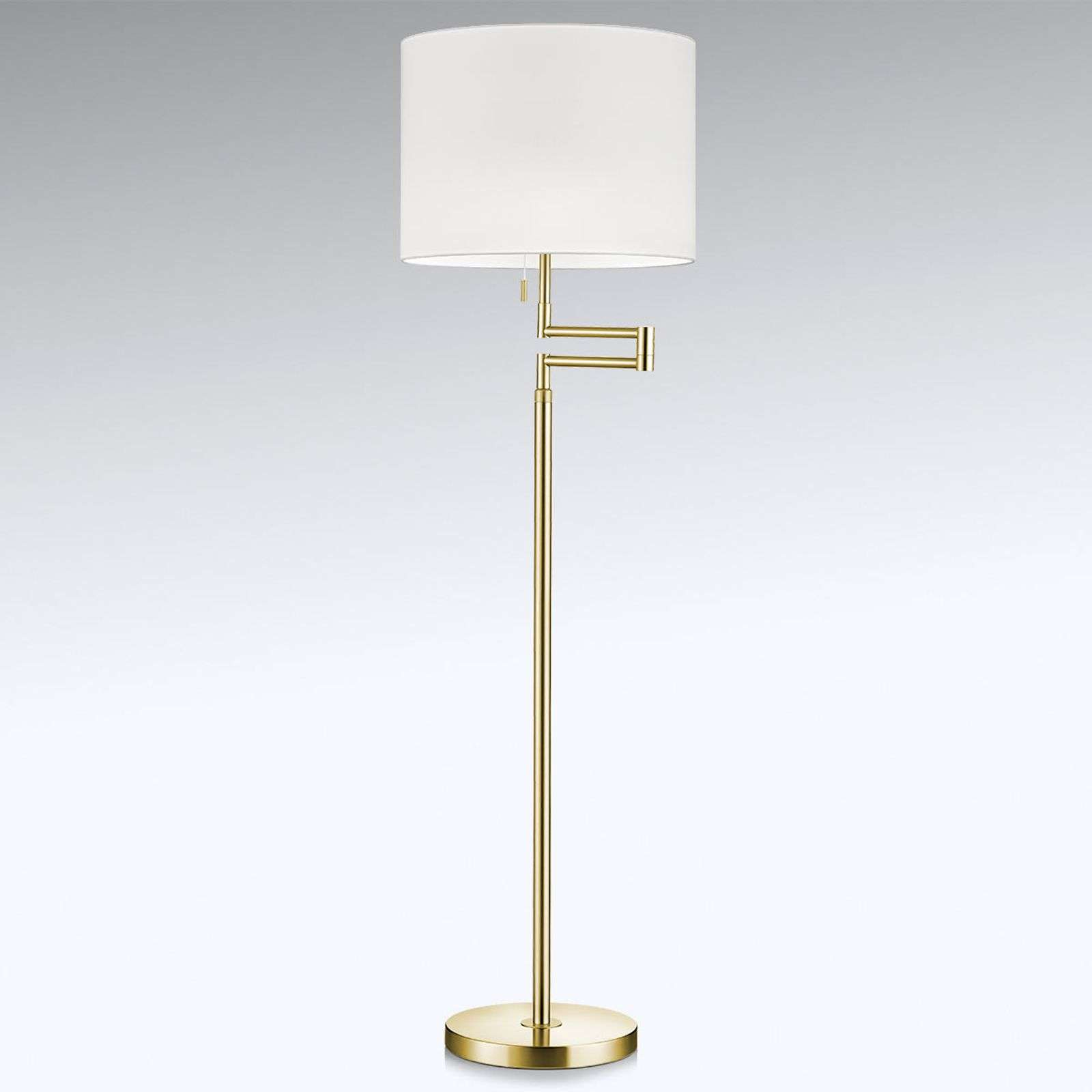 Lampadaire LED Lilian dimmable, abat-jour chintz