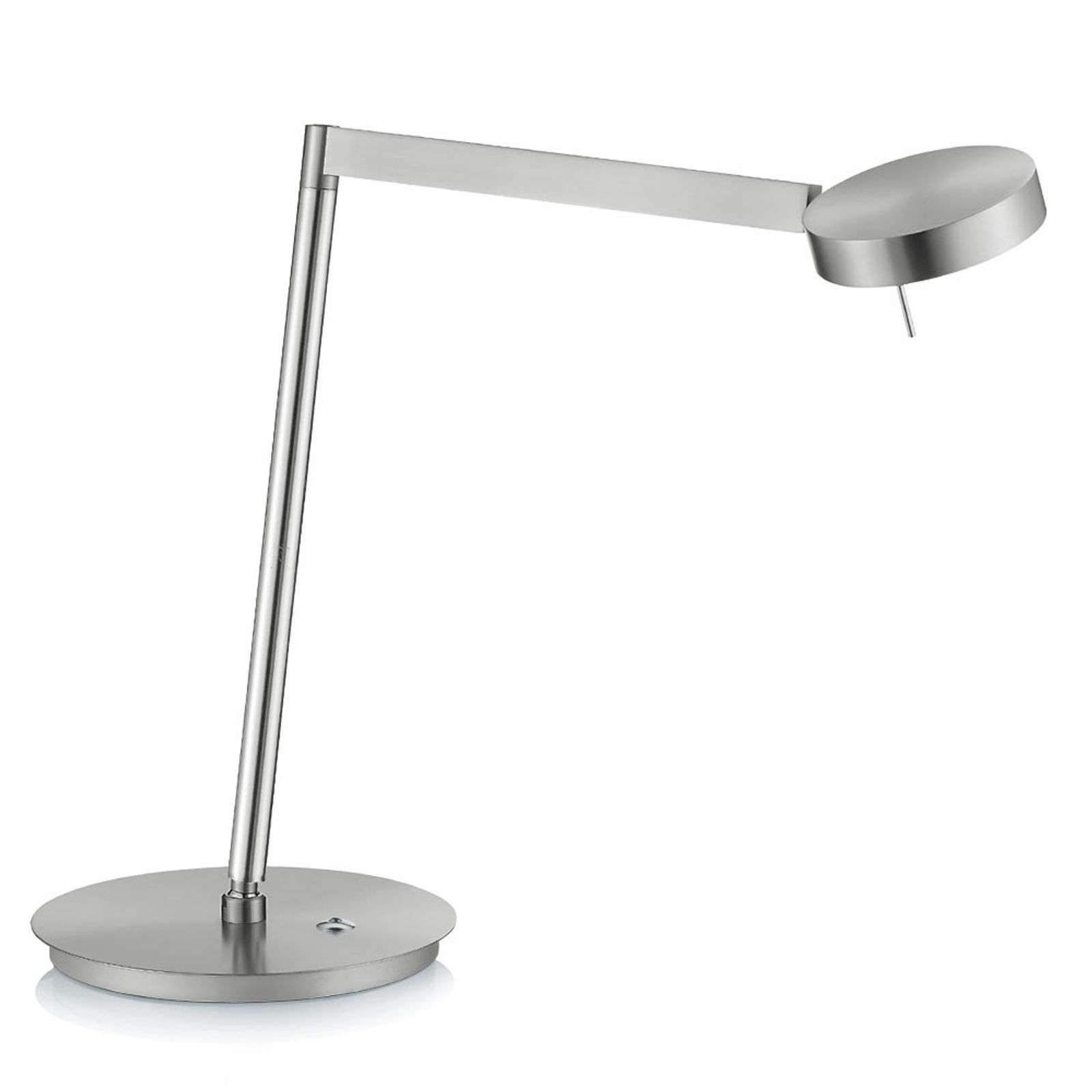 Lampe à poser LED Reading nickel variateur tactile