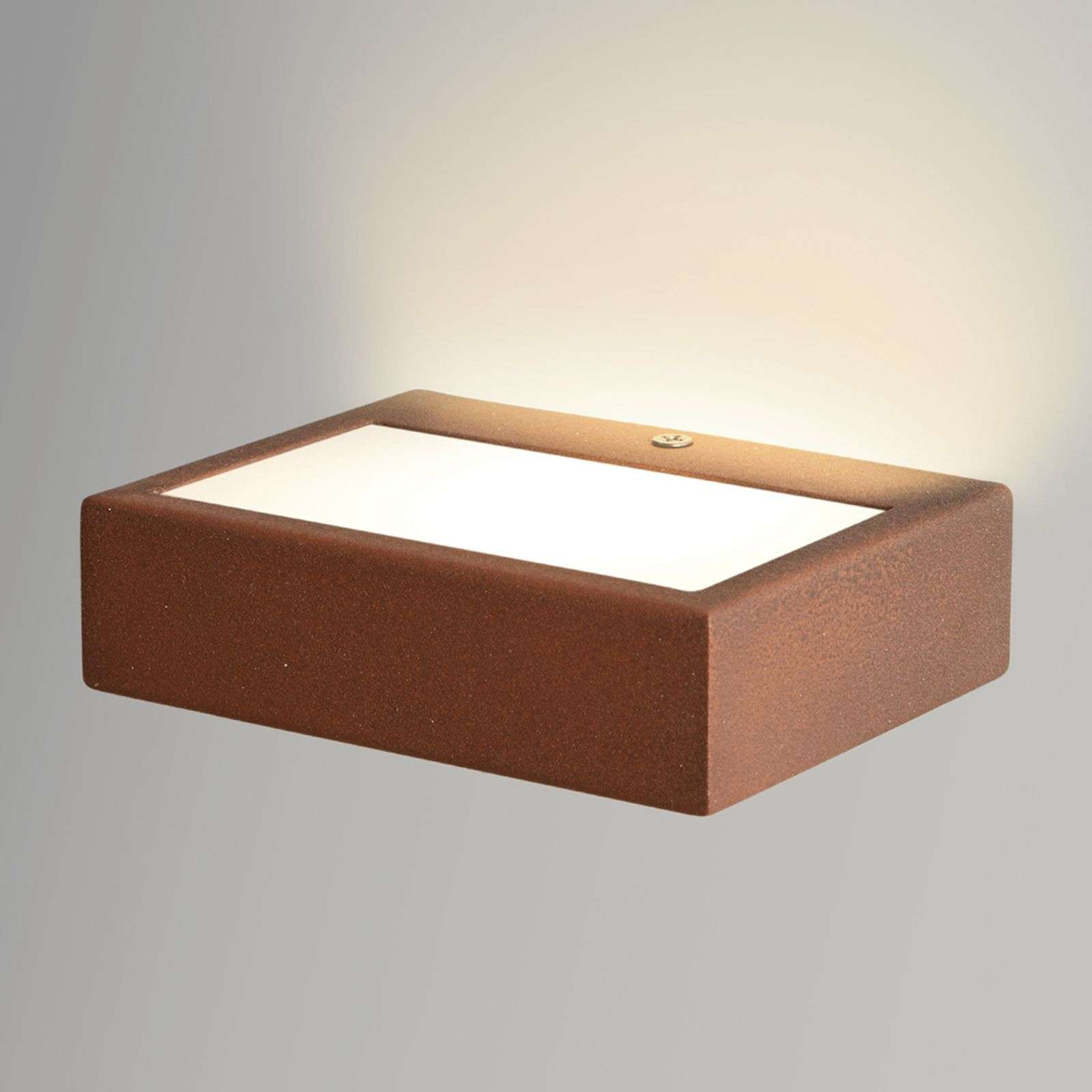 Applique LED Viva en Corten, 13 cm