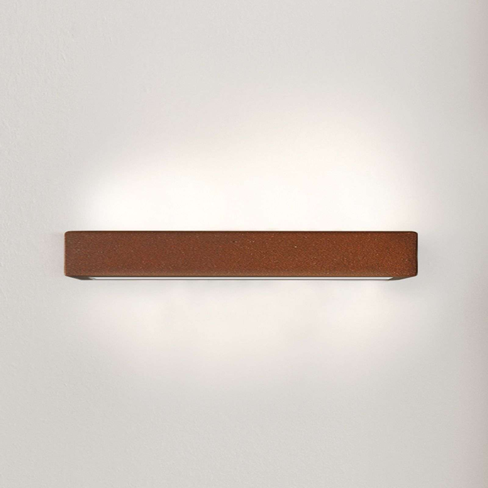 Applique LED Viva en Corten, 30 cm