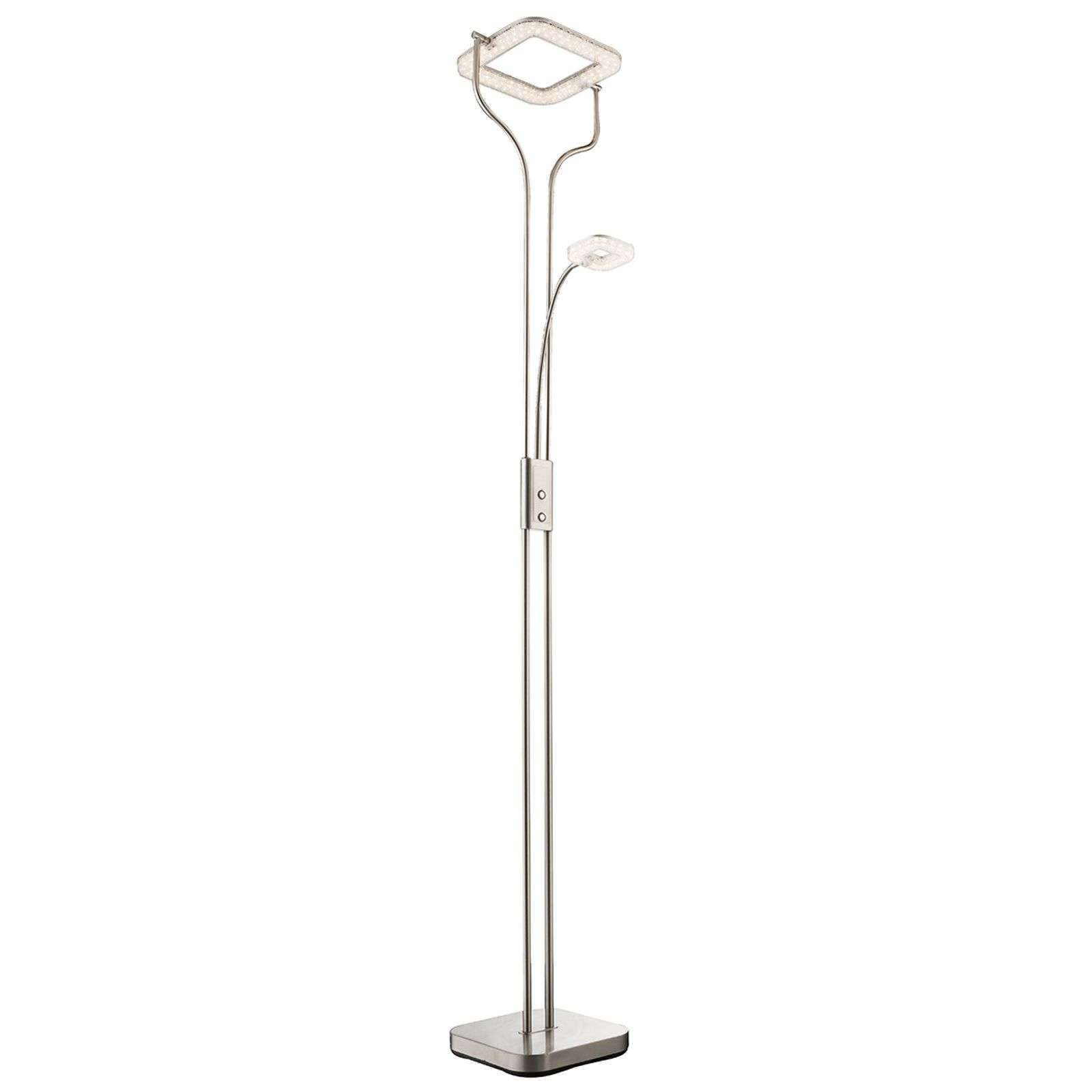 Lampadaire LED indirect Varai, abat-jour carré