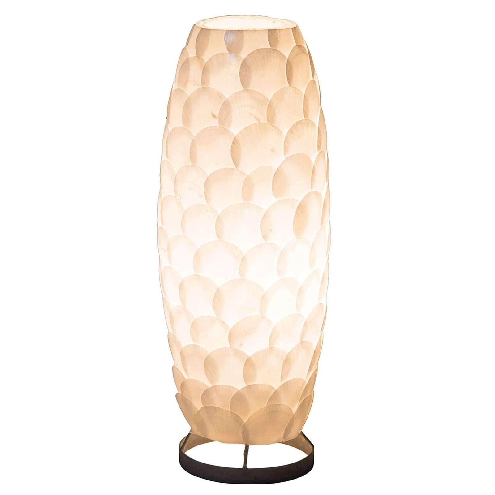 Lampe à poser Bali, disques coquille blanche