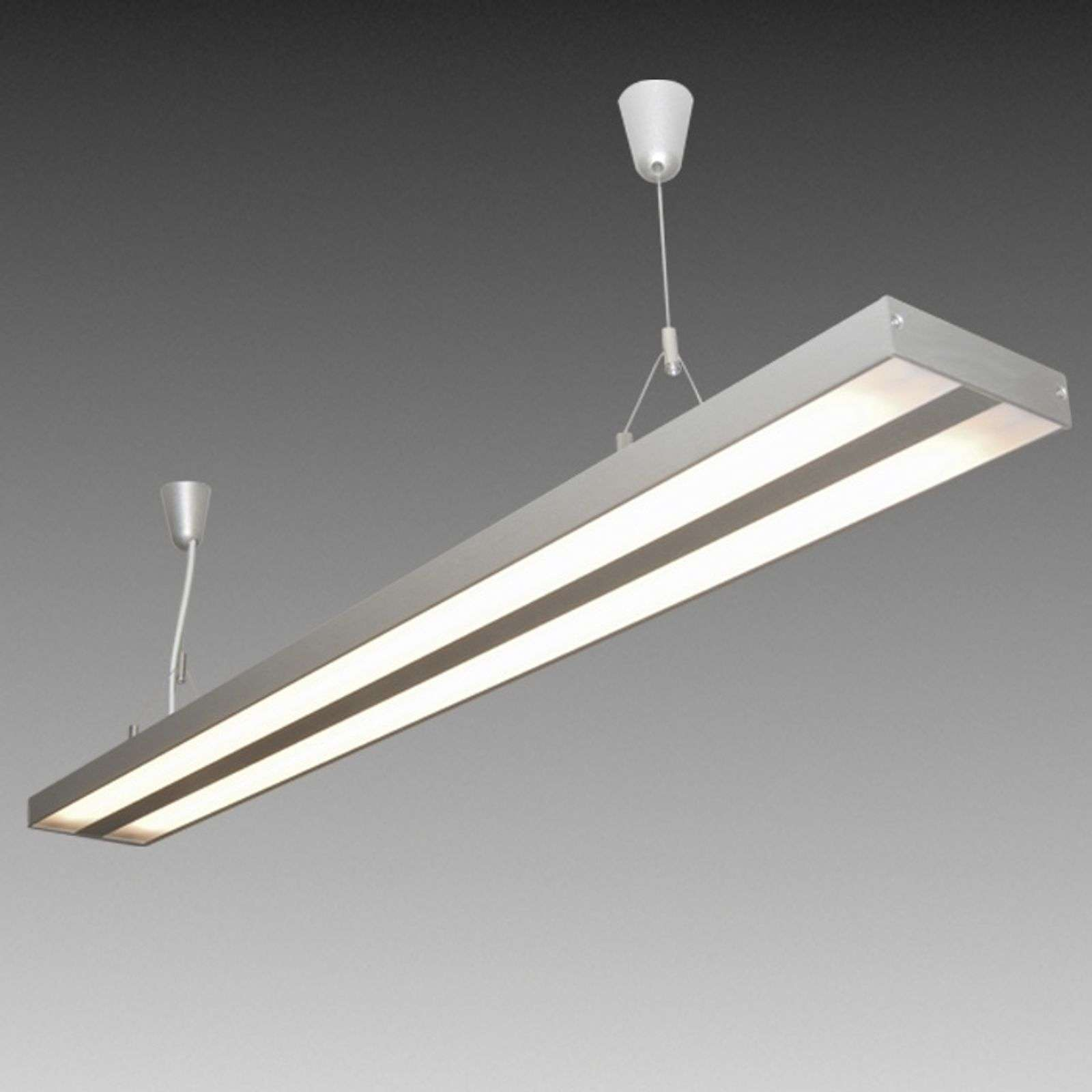 Suspension AIR LIGHT tube fluo 119 cm blanc chaud