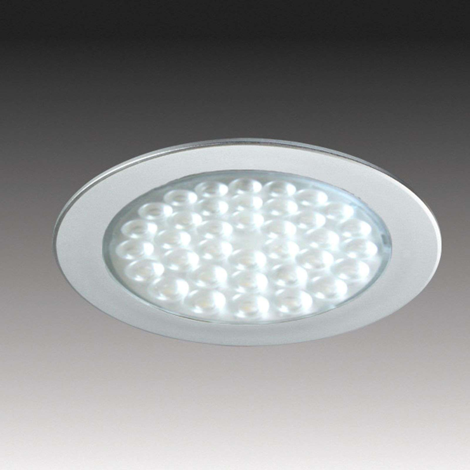 Spot encastrable R 68-LED aspect inox