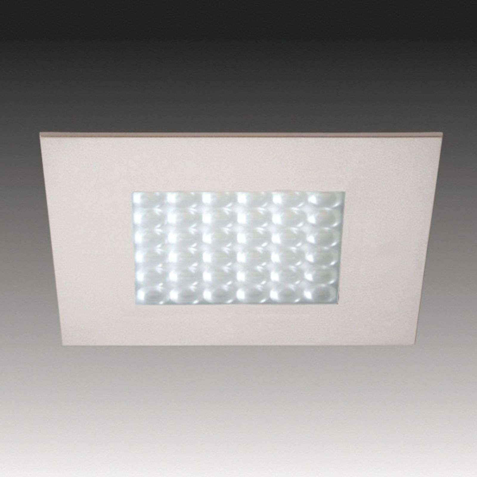 Spot encastrable LED Q 68 aspect inox