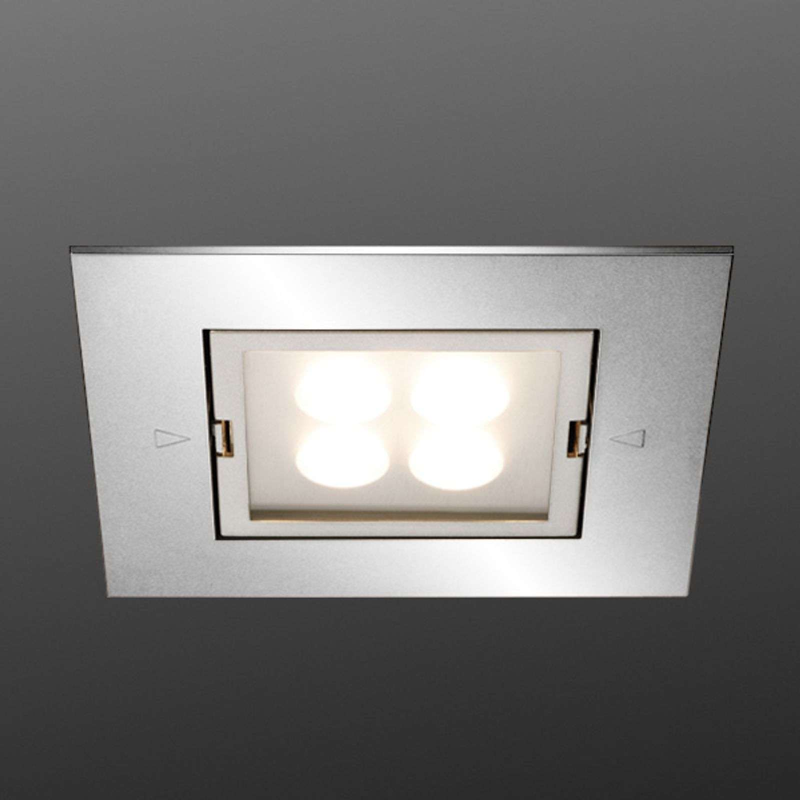 Spot encastrable ARF-Q LED 4 x 1 W inox