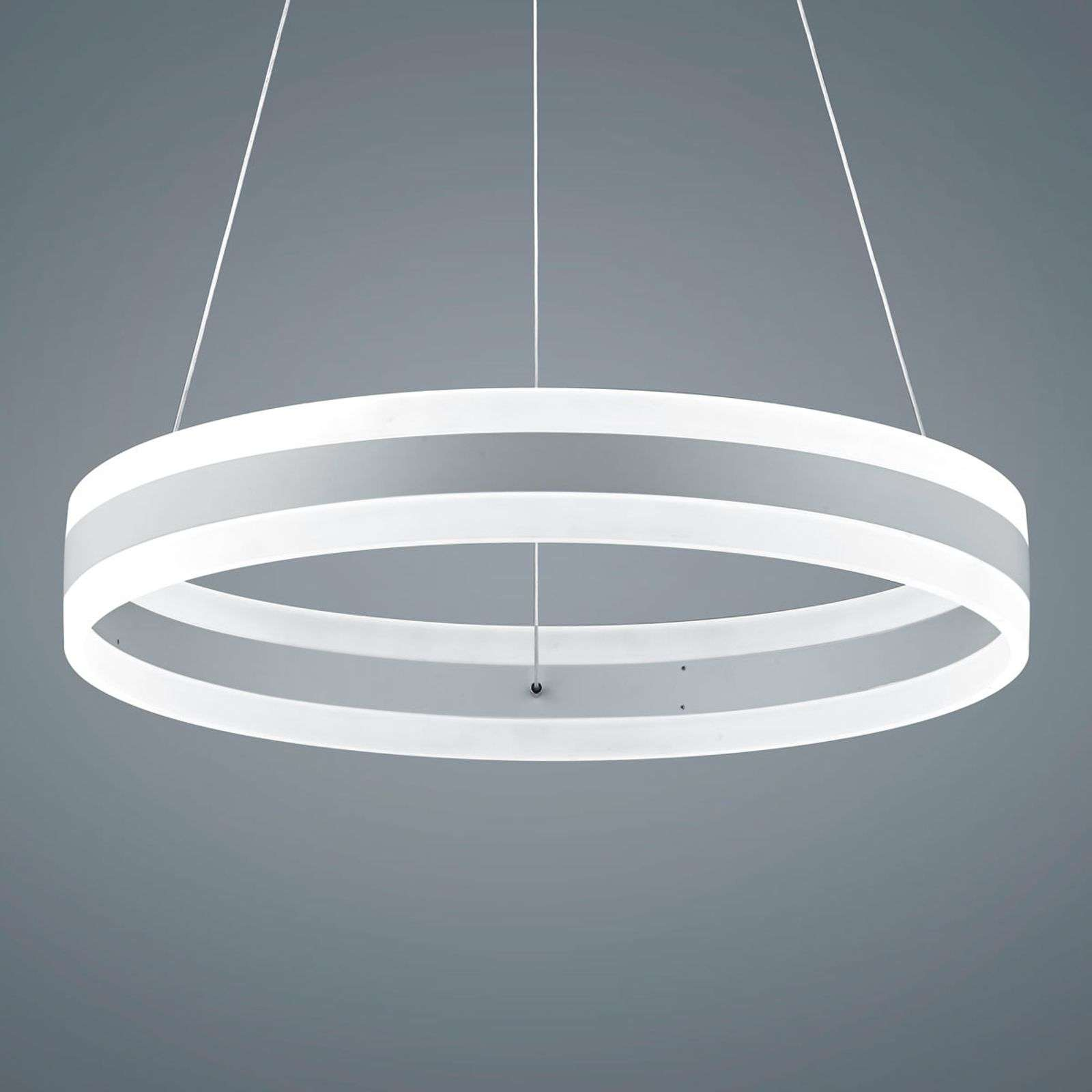 Suspension LED Liv blanc mat, diamètre 60 cm