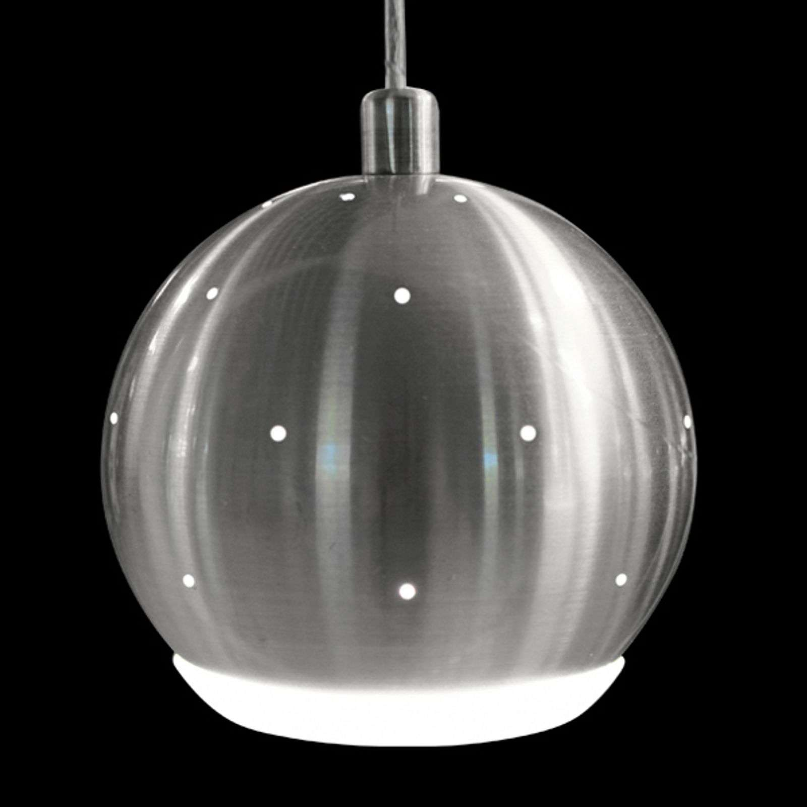 Suspension LED moderne Pino, nickel mat