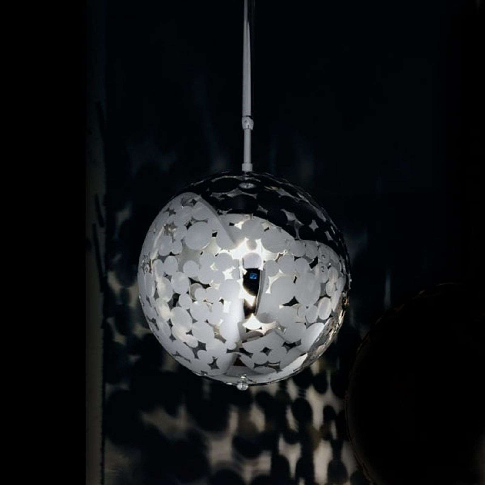 Brillante suspension boule BUBBLES 27 chromé