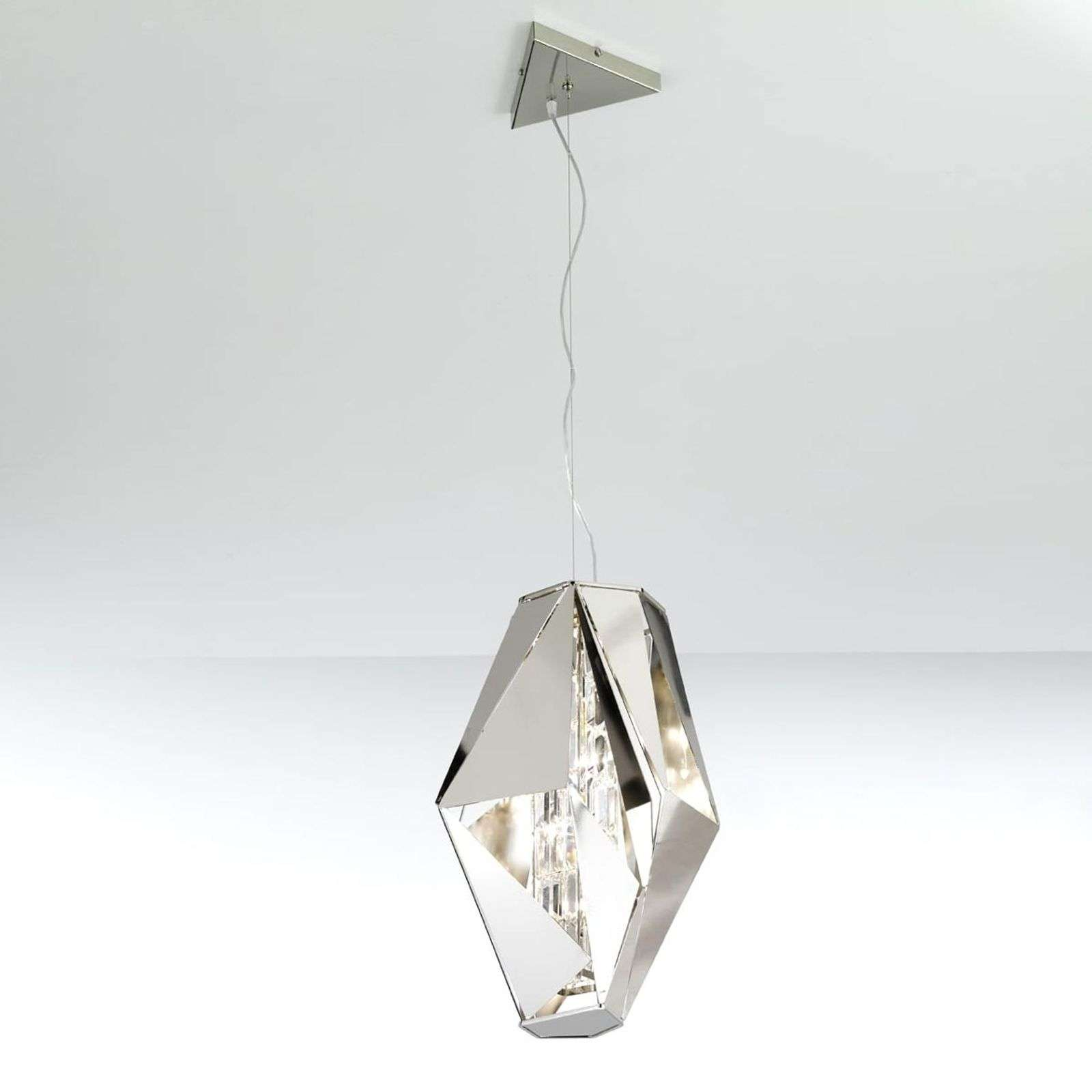 Suspension design Crystal Rock imposante acier